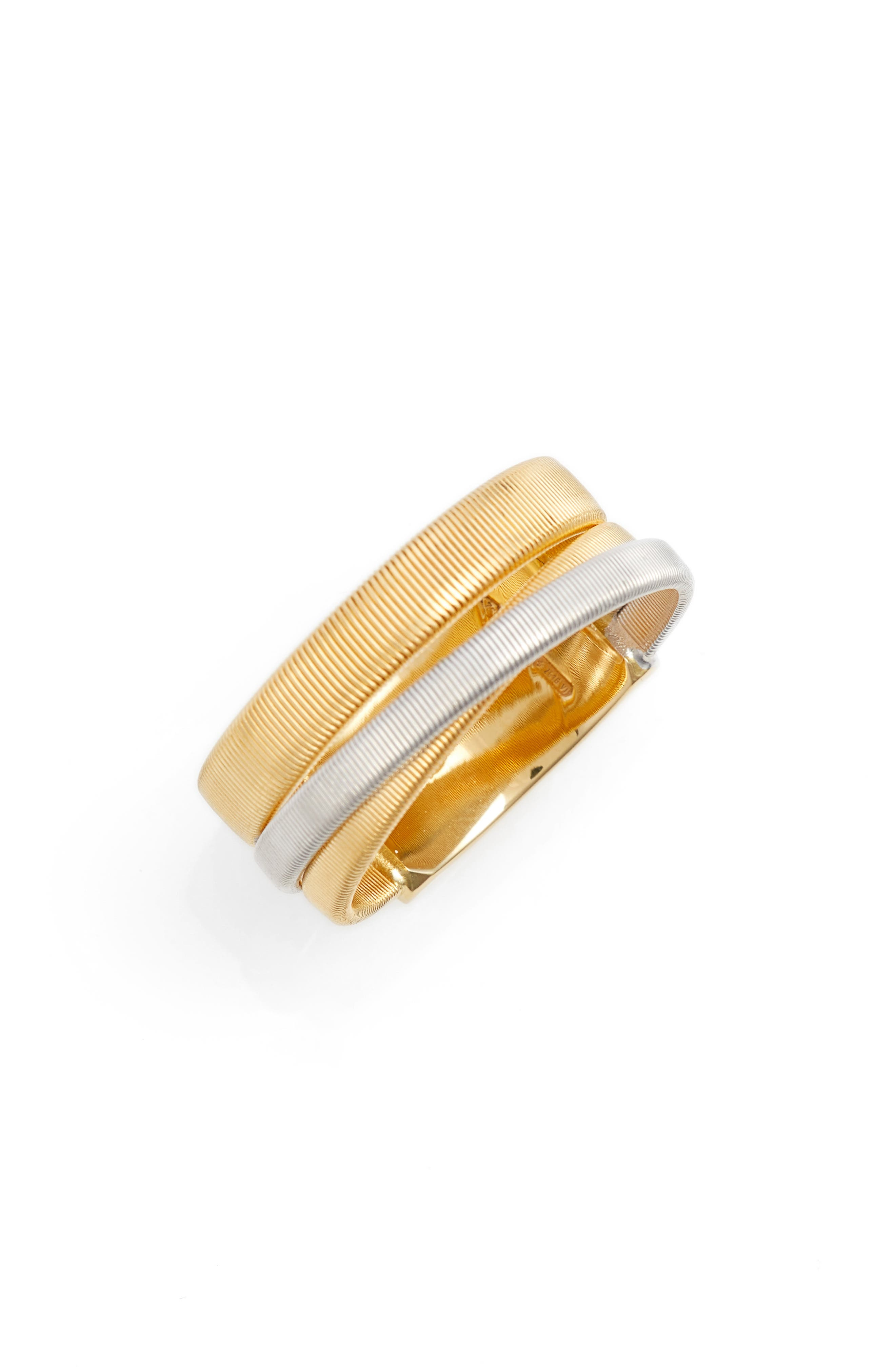 Masai Two-Tone Ring,                         Main,                         color, YELLOW GOLD/ WHITE GOLD