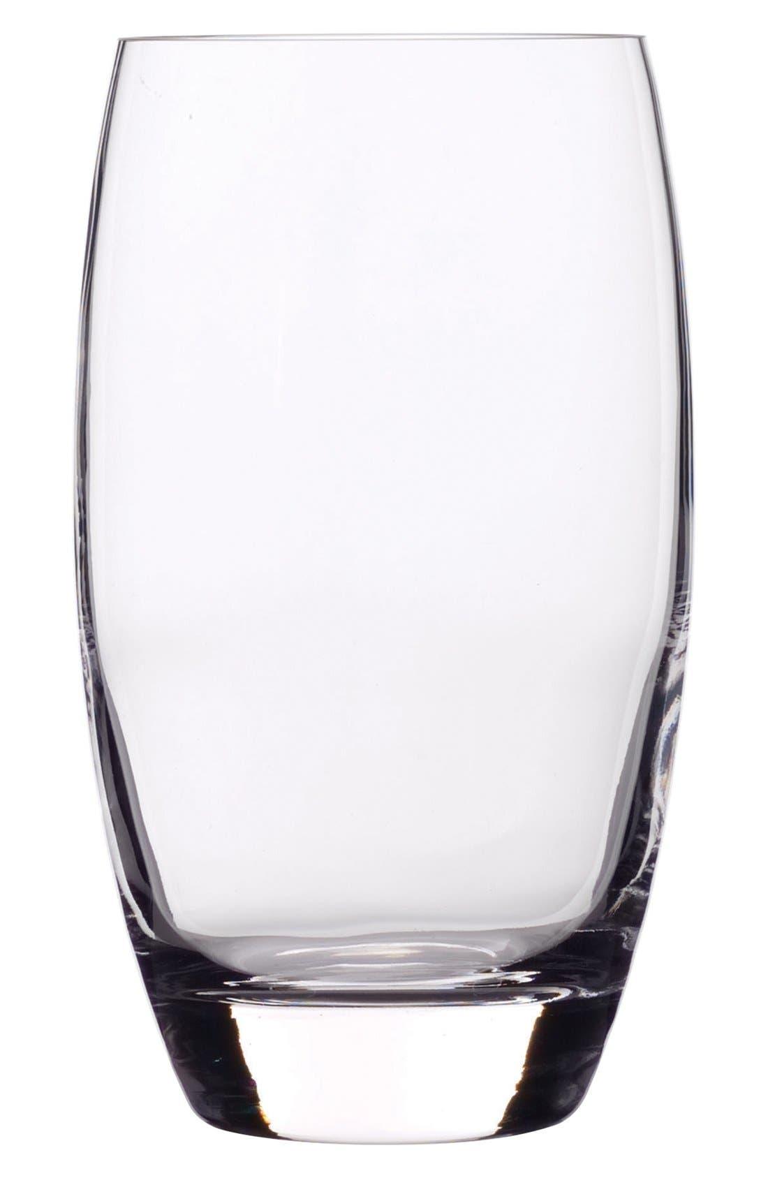'Crescendo' Beverage Glasses,                             Main thumbnail 1, color,                             CLEAR