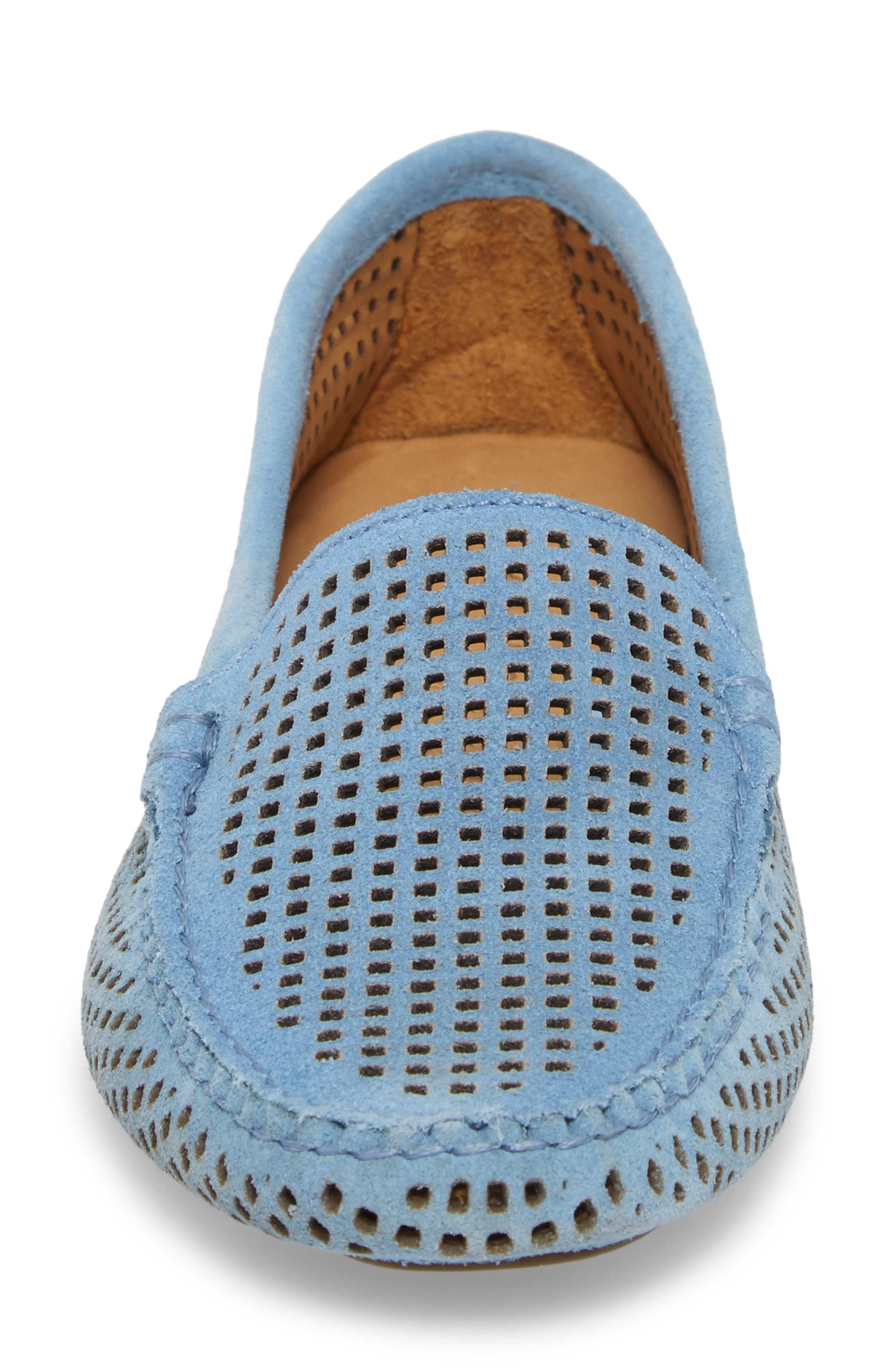 'Barrie' Flat,                             Alternate thumbnail 4, color,                             FRENCH BLUE SUEDE