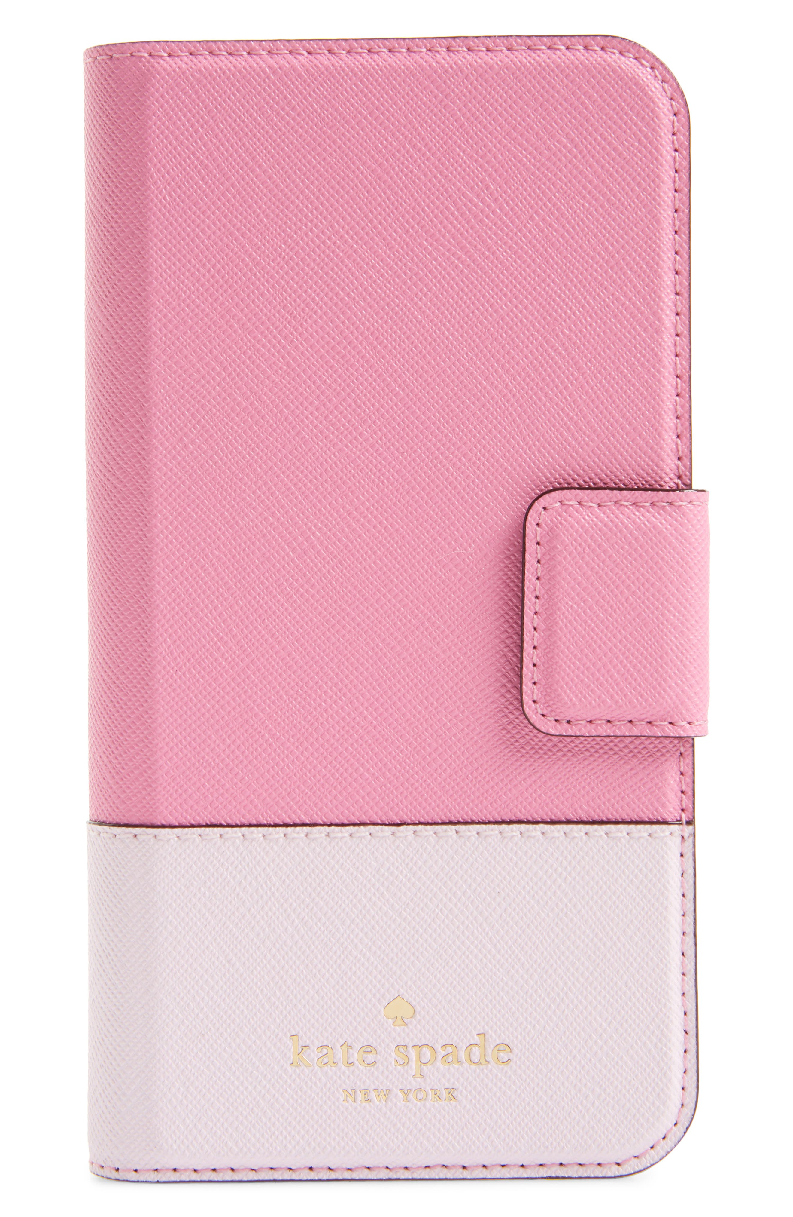 leather wrap iPhone X/Xs folio case,                         Main,                         color, 691