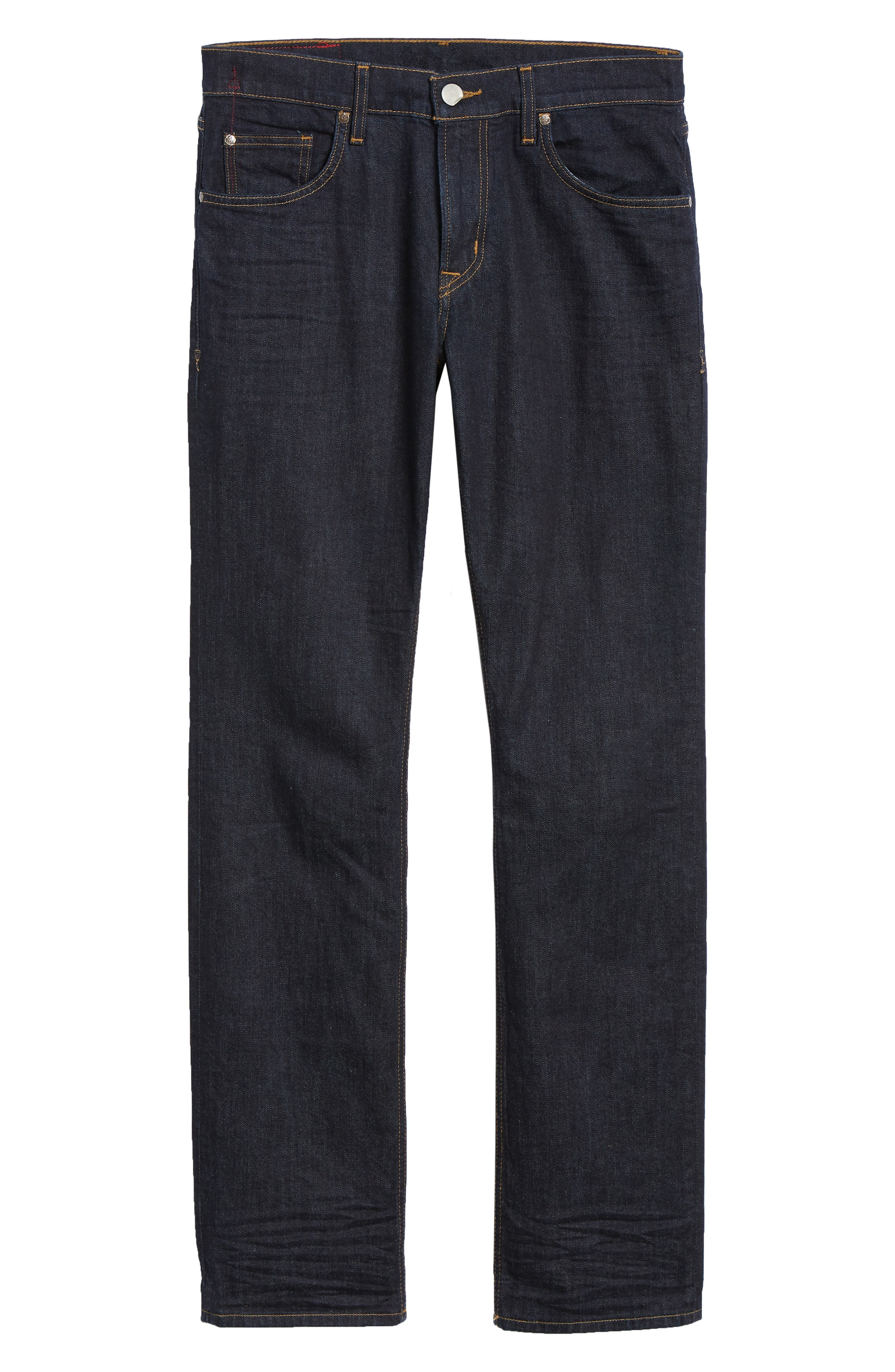 Austen Straight Leg Jeans,                             Alternate thumbnail 6, color,                             INDIGO
