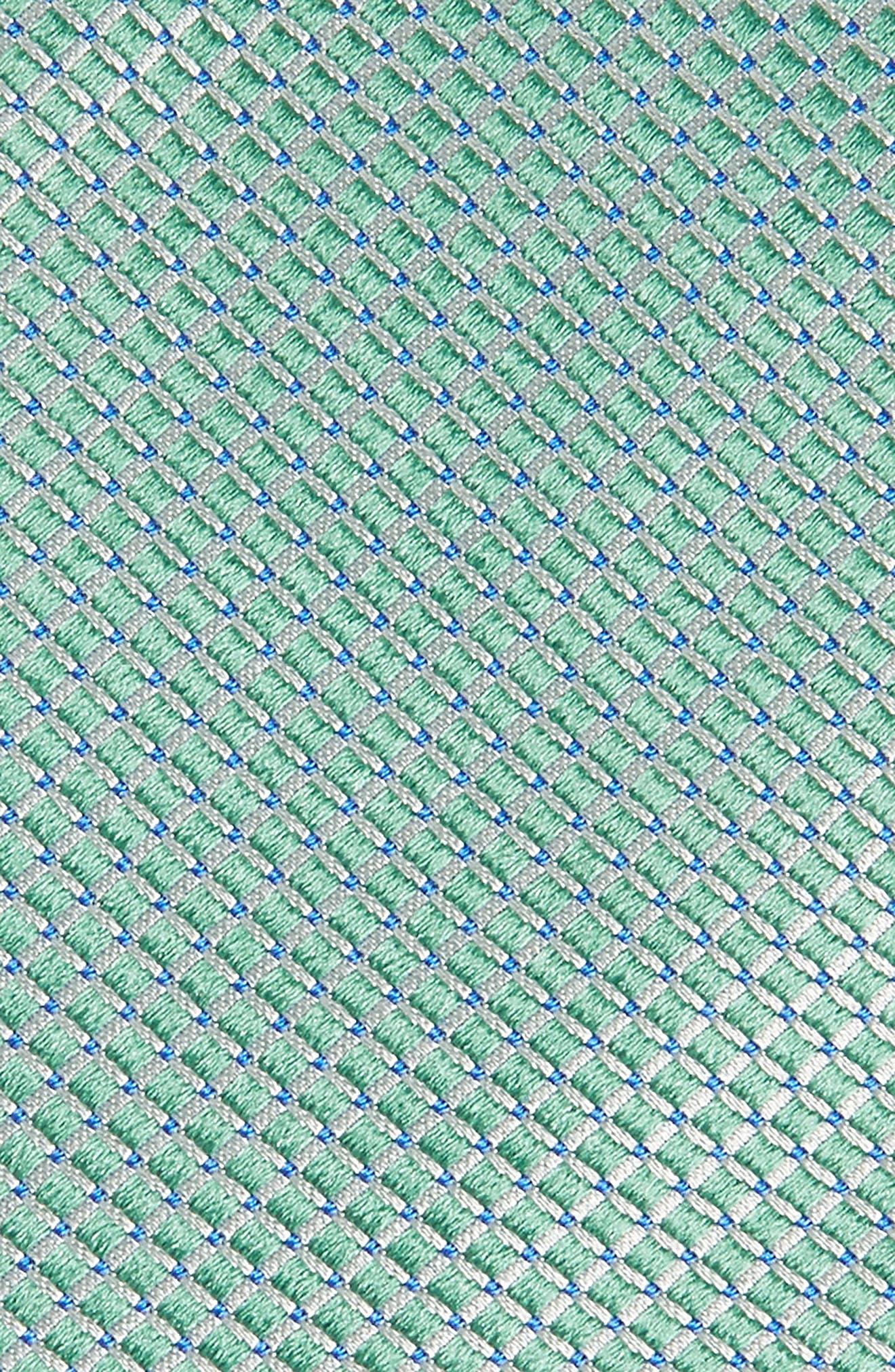 Geometric Silk Tie,                             Alternate thumbnail 2, color,                             GREEN
