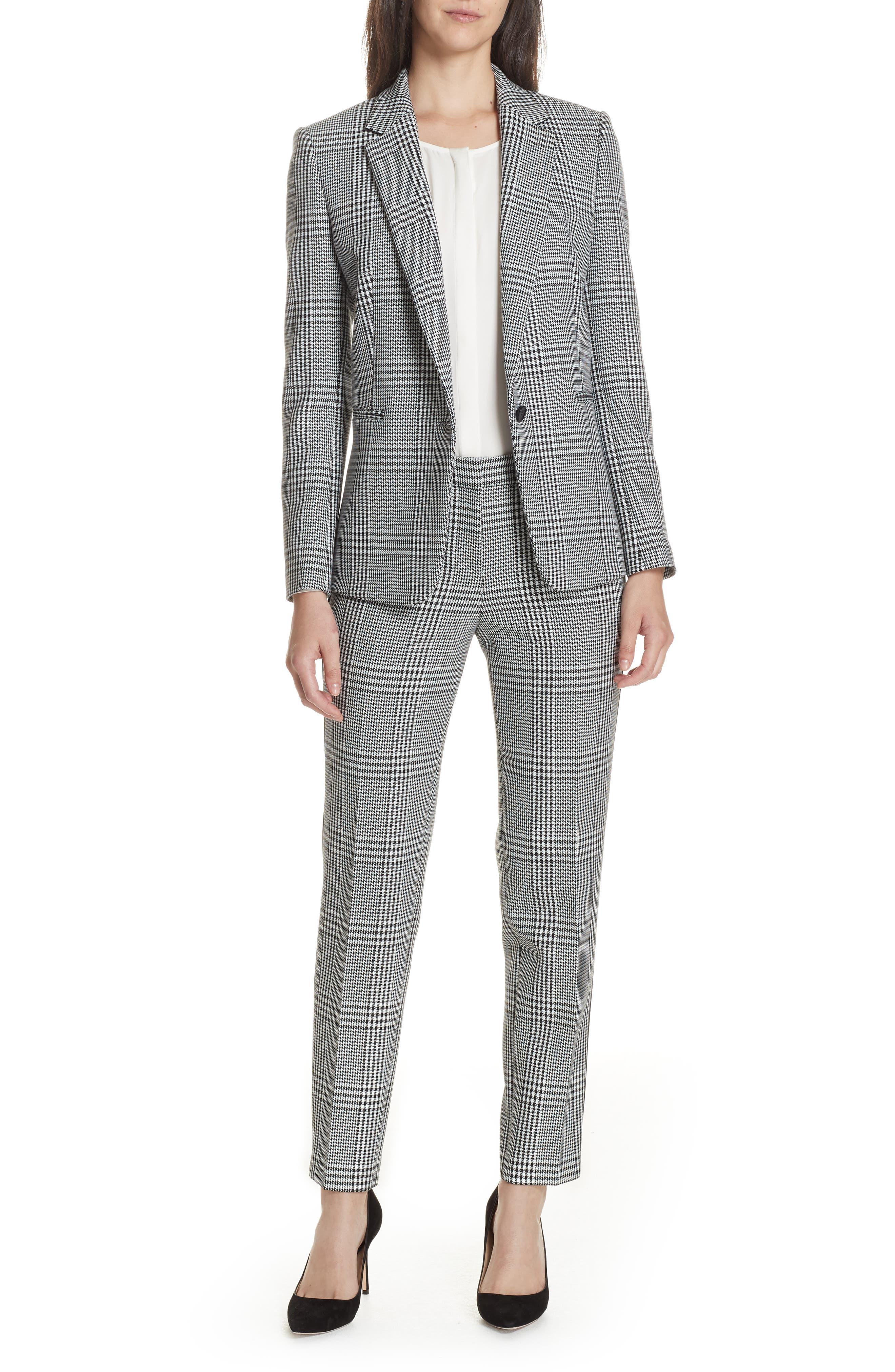 Jemaromina Glen Plaid Suit Jacket,                             Alternate thumbnail 7, color,                             020