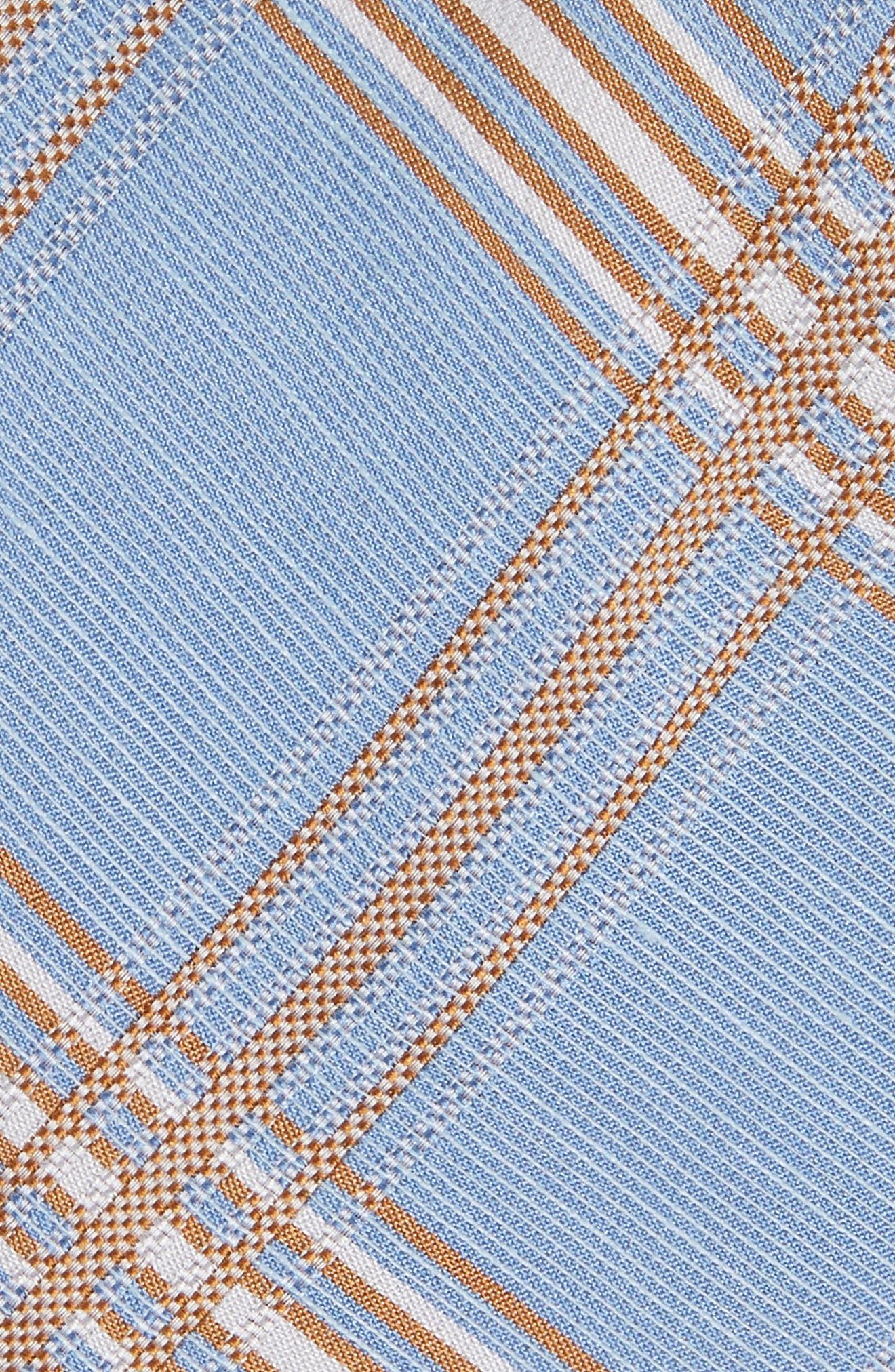 KP Plaid Silk & Linen Tie,                             Alternate thumbnail 2, color,                             LIGHT BLUE