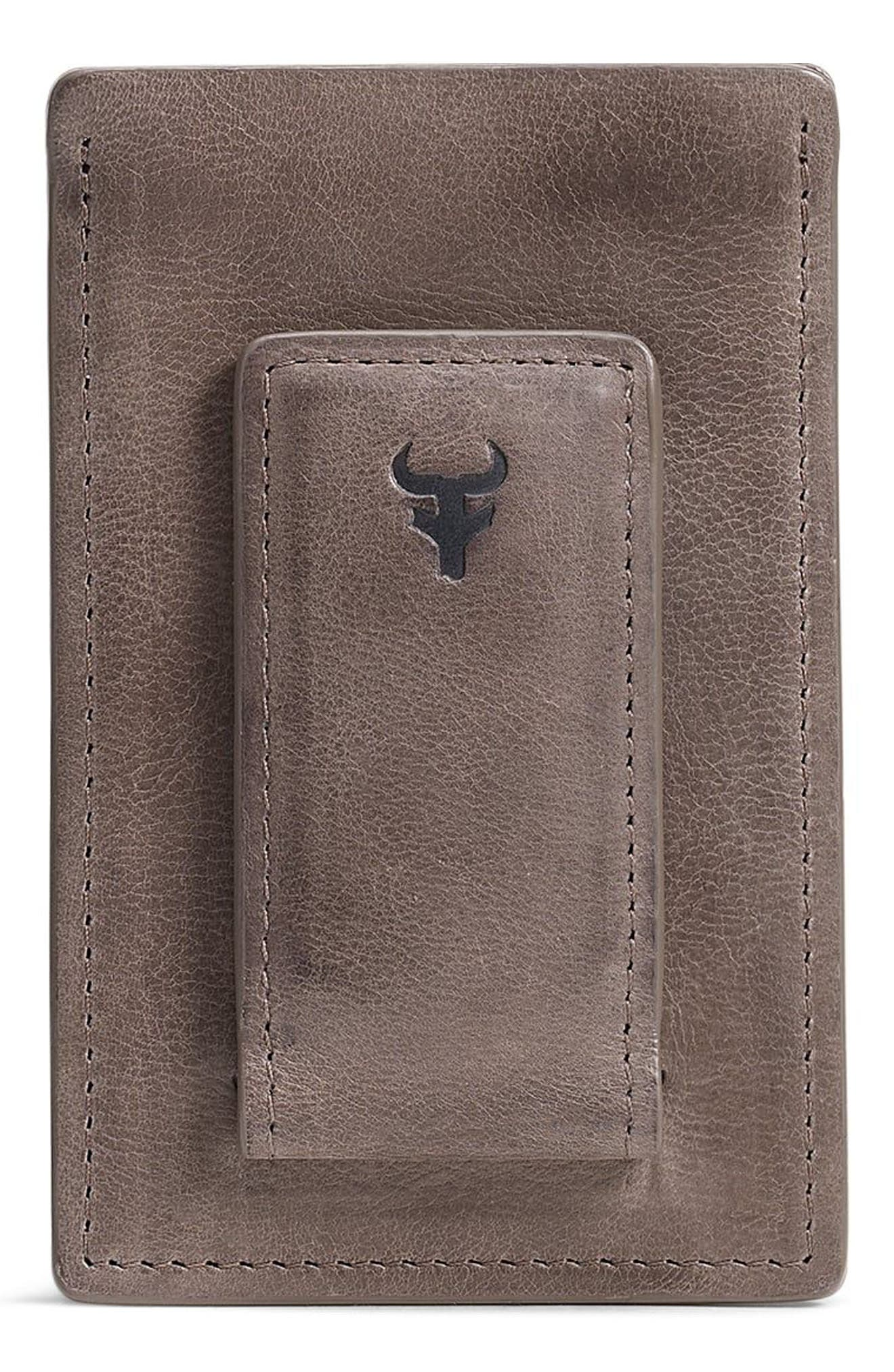 Canyon Money Clip Card Case,                             Alternate thumbnail 2, color,                             GREY
