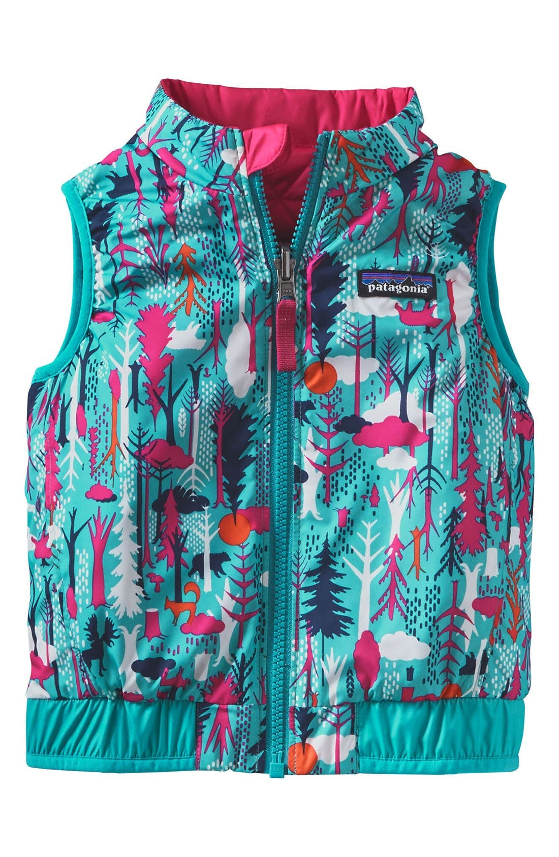 'Puff-Ball' Water Resistant Reversible Vest,                             Main thumbnail 3, color,