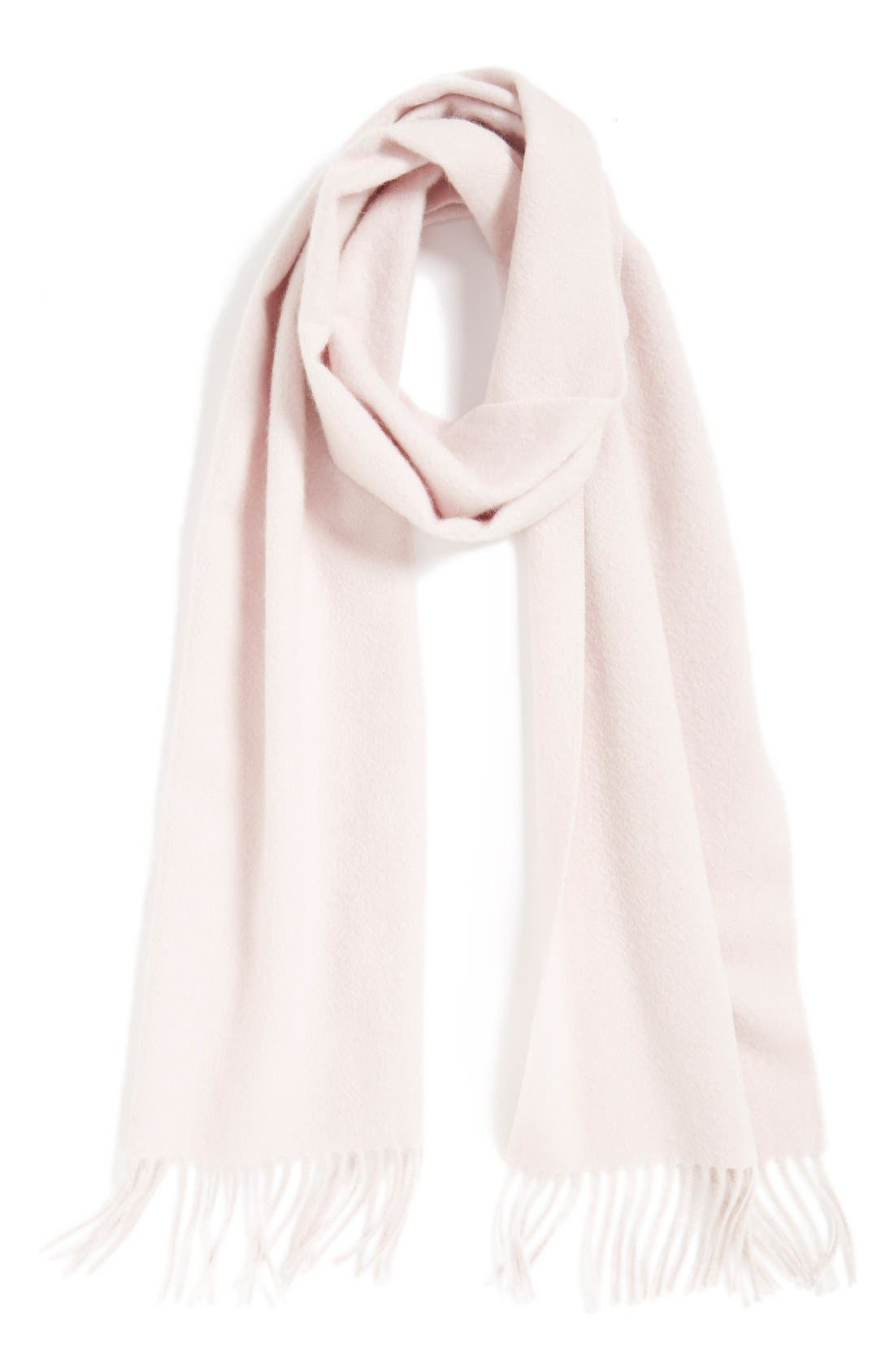 Solid Woven Cashmere Scarf,                             Main thumbnail 2, color,