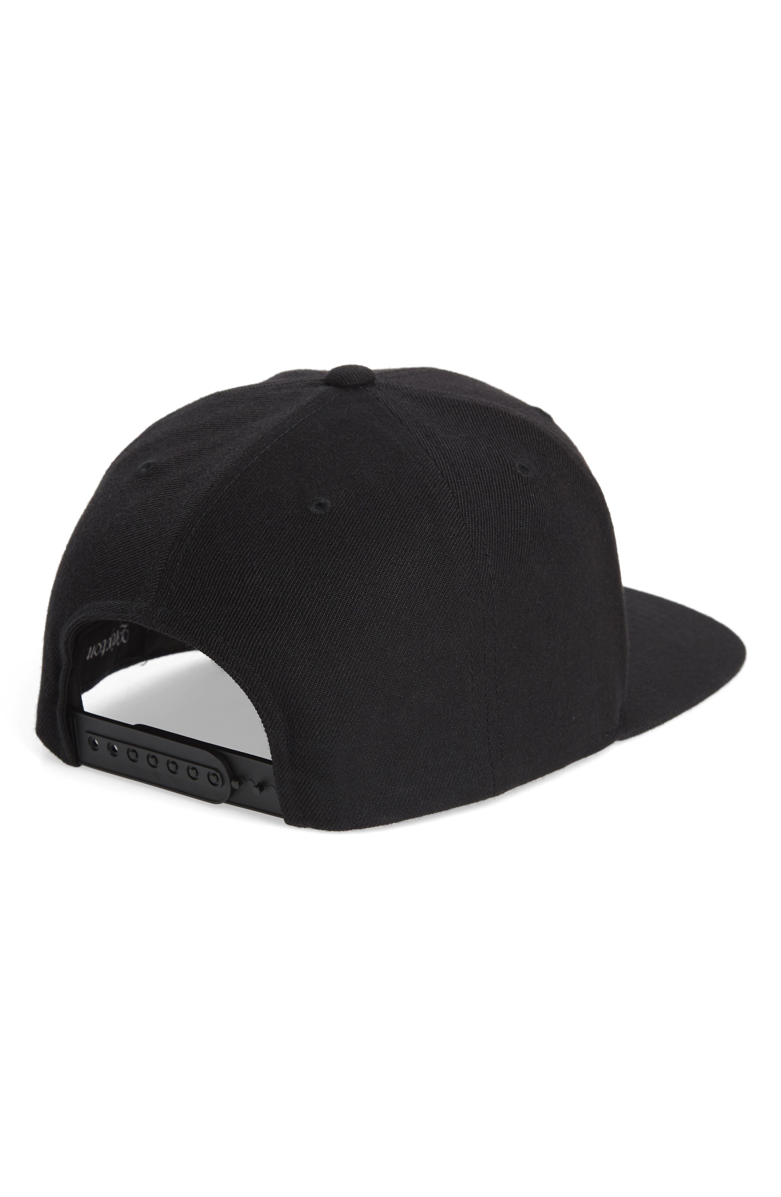 Stowell Snapback Cap,                             Alternate thumbnail 2, color,                             BLACK