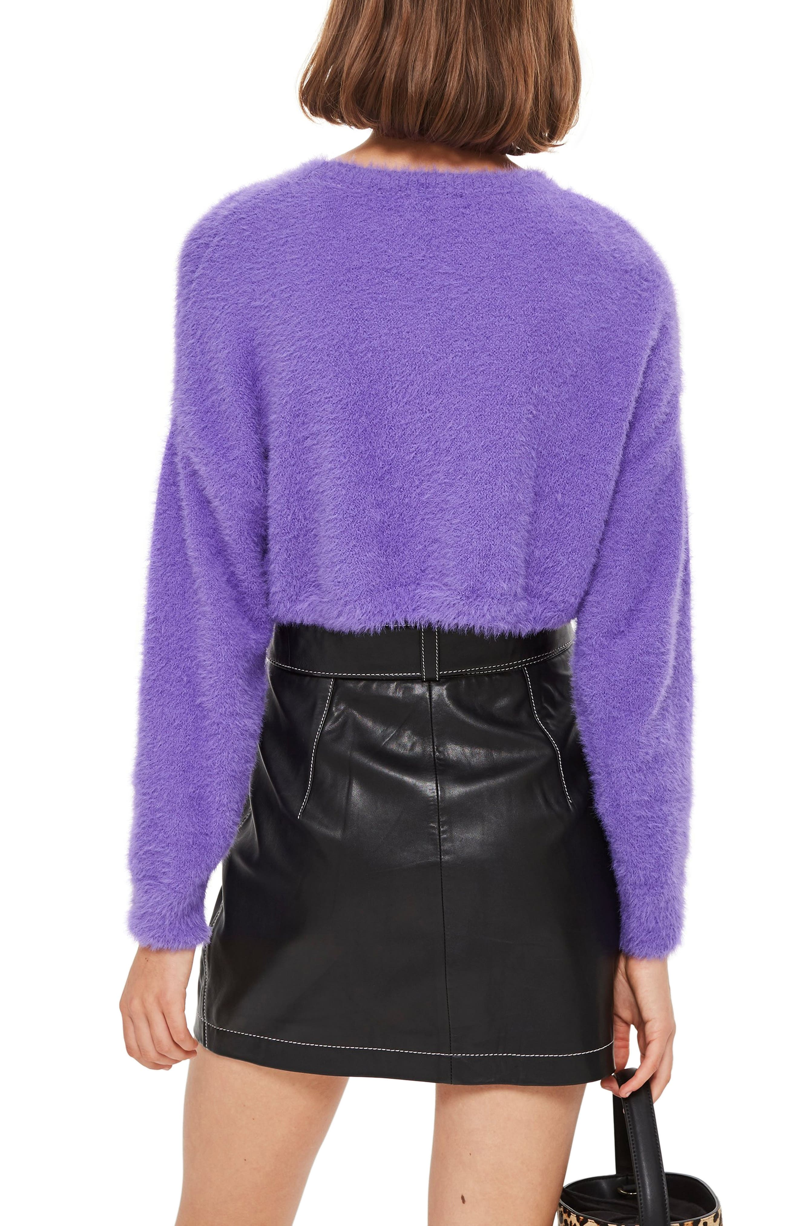 Fluffy Crop Sweater,                             Alternate thumbnail 2, color,                             500