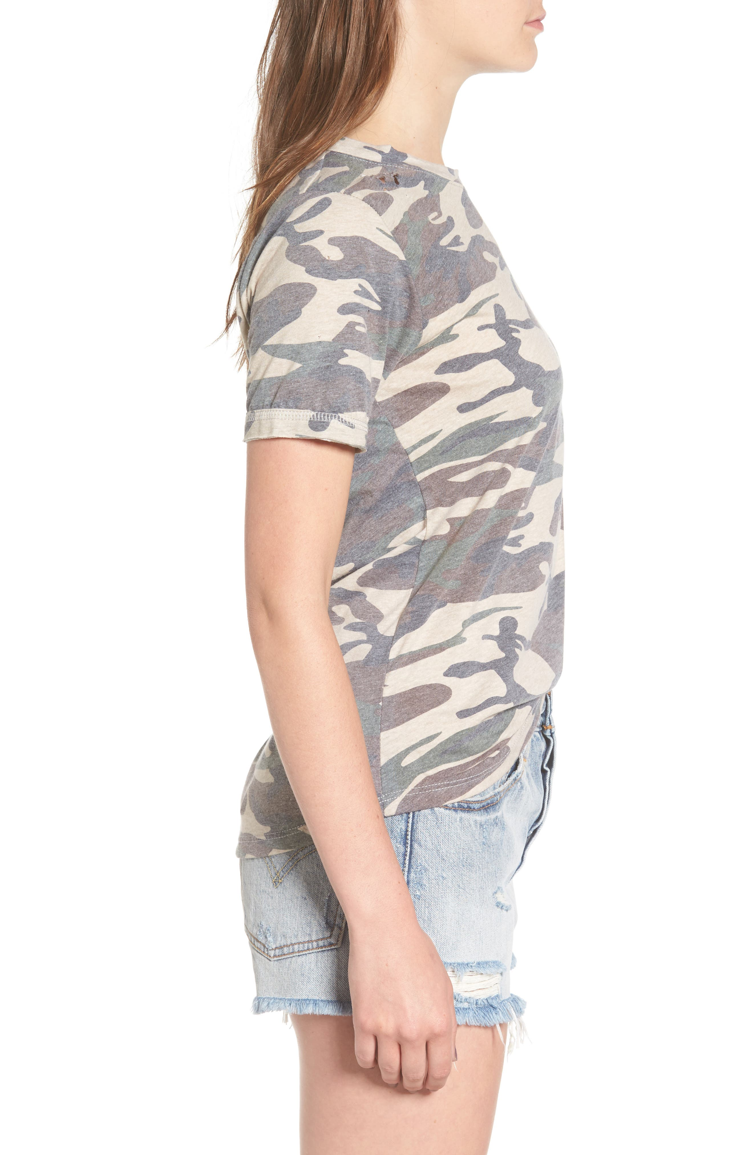 Distressed Camo Tee,                             Alternate thumbnail 3, color,                             300