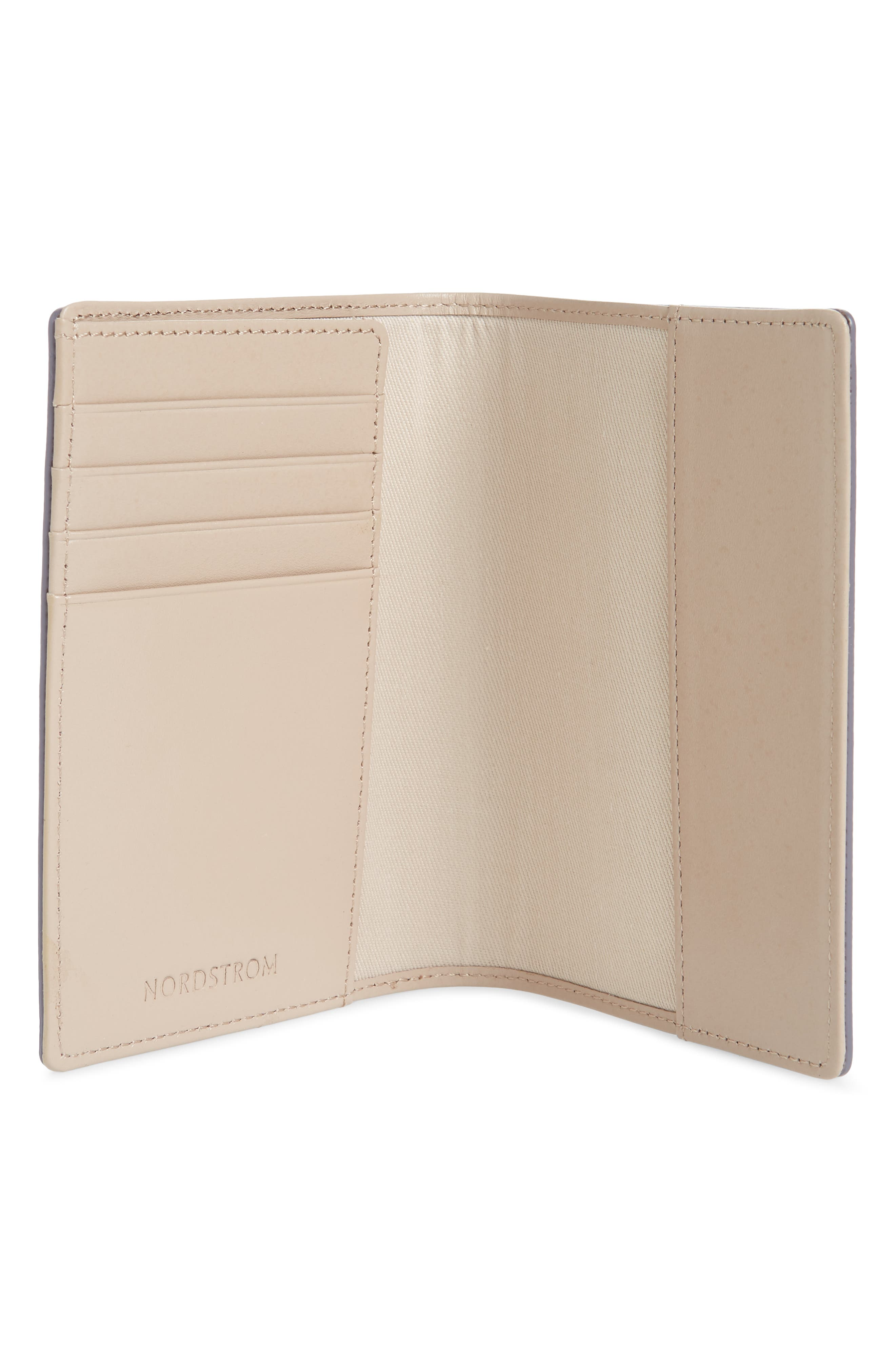 Saffiano Leather Passport Holder,                             Alternate thumbnail 2, color,                             GREY LILAC