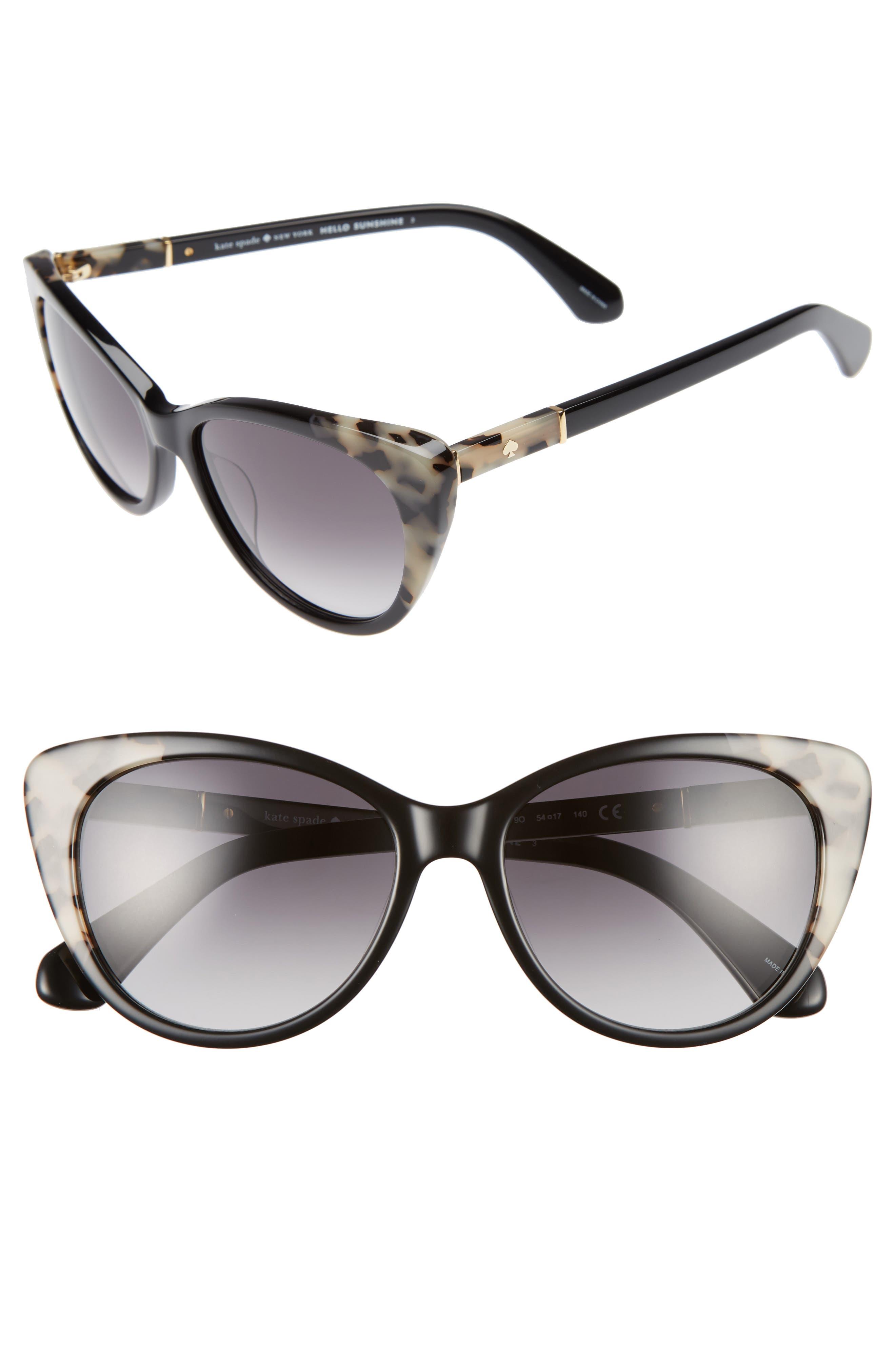 sherylyn 54mm sunglasses,                             Main thumbnail 1, color,                             001