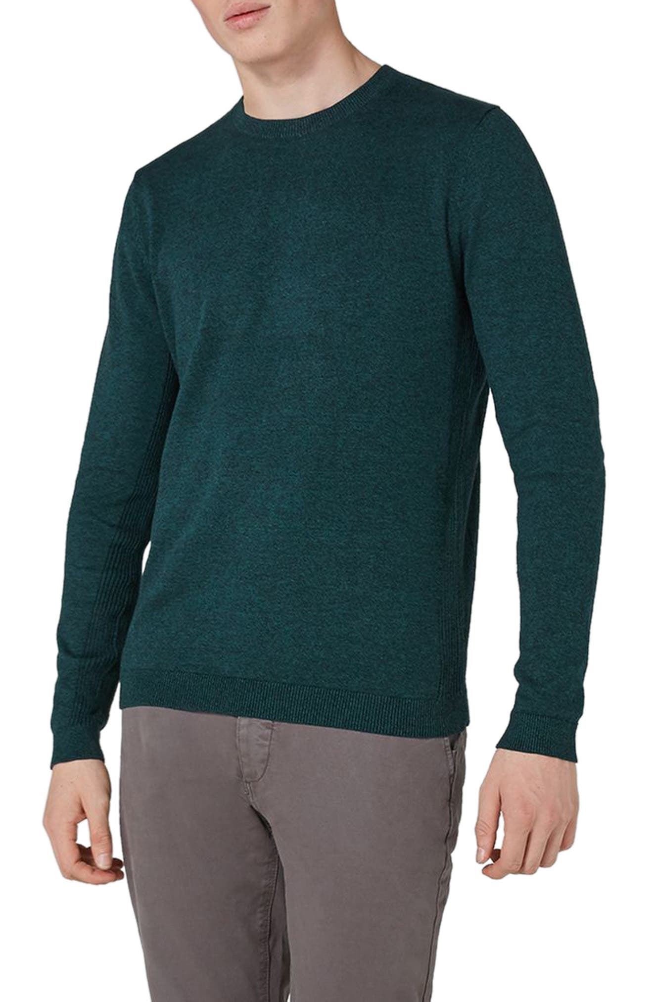 Side Ribbed Slim Fit Sweater,                             Main thumbnail 4, color,