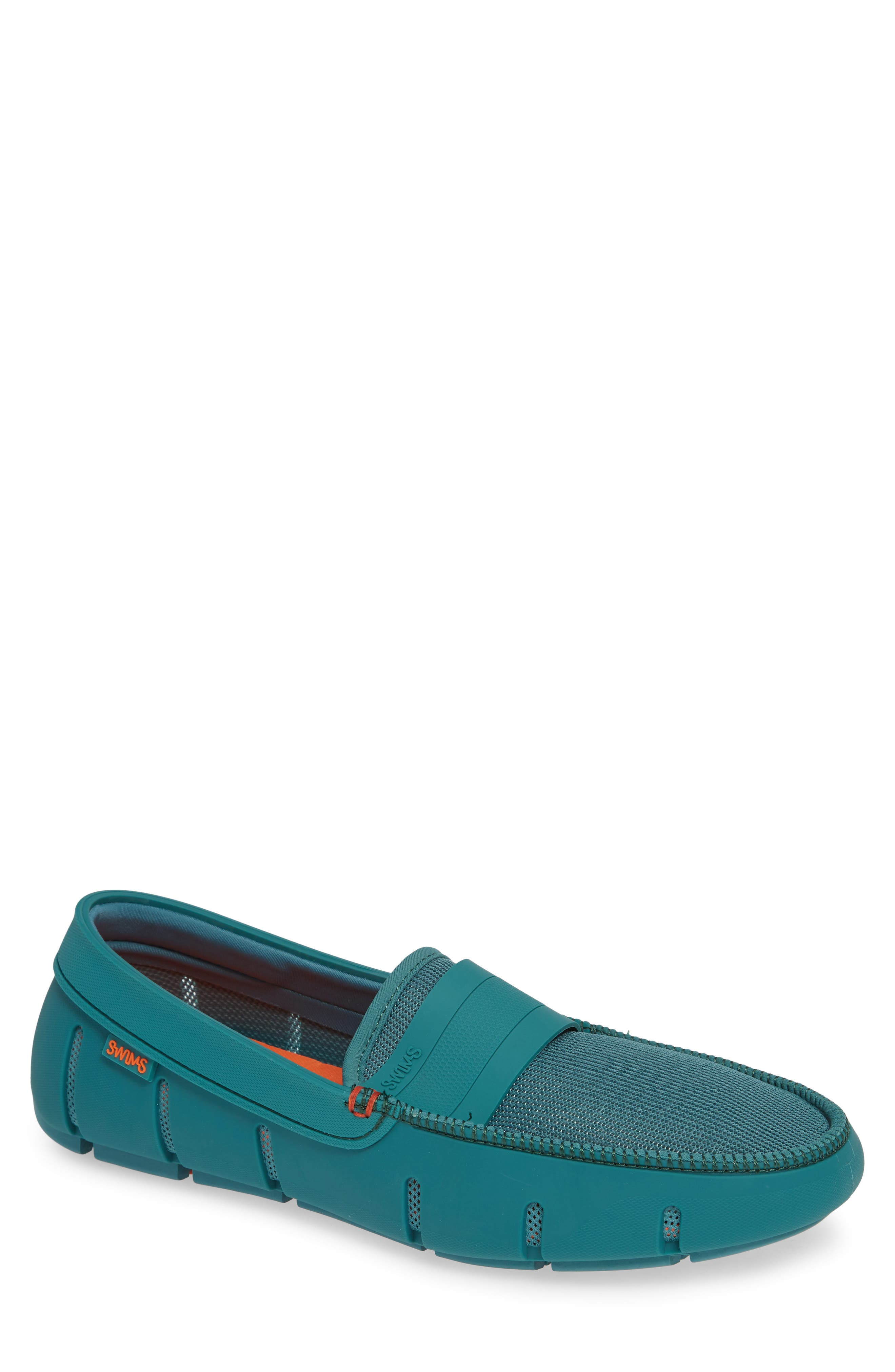 Stride Driving Loafer,                         Main,                         color, TEAL GREEN