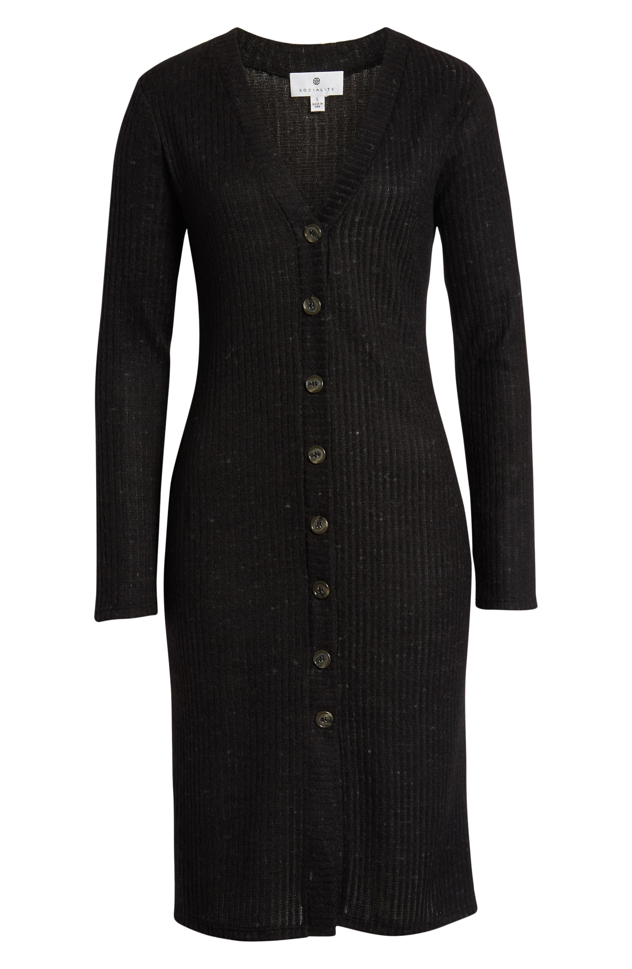 SOCIALITE,                             Sweater Dress,                             Alternate thumbnail 7, color,                             BLACK