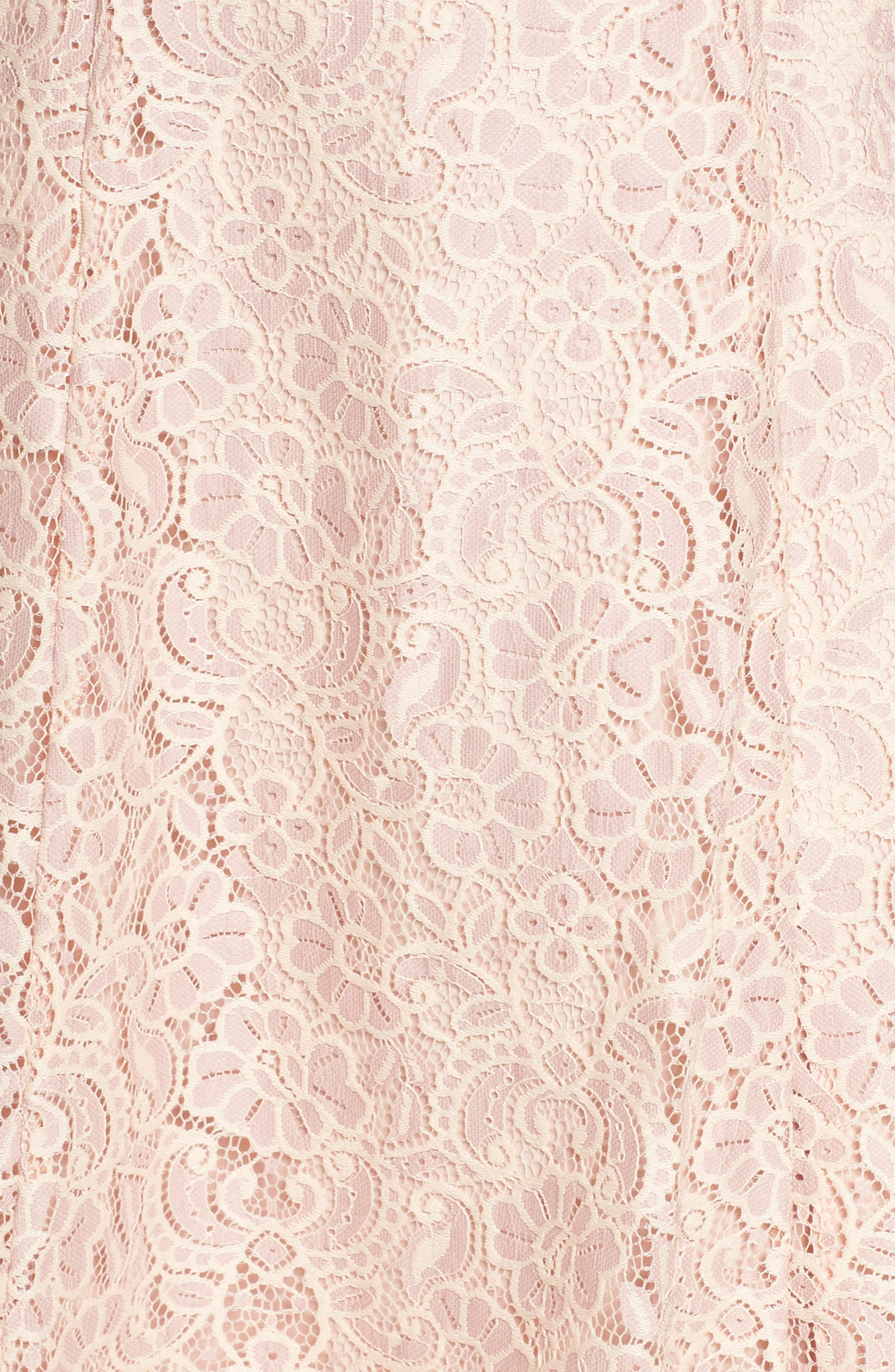 Off the Shoulder Lace Dress,                             Alternate thumbnail 5, color,                             DUSTY PINK