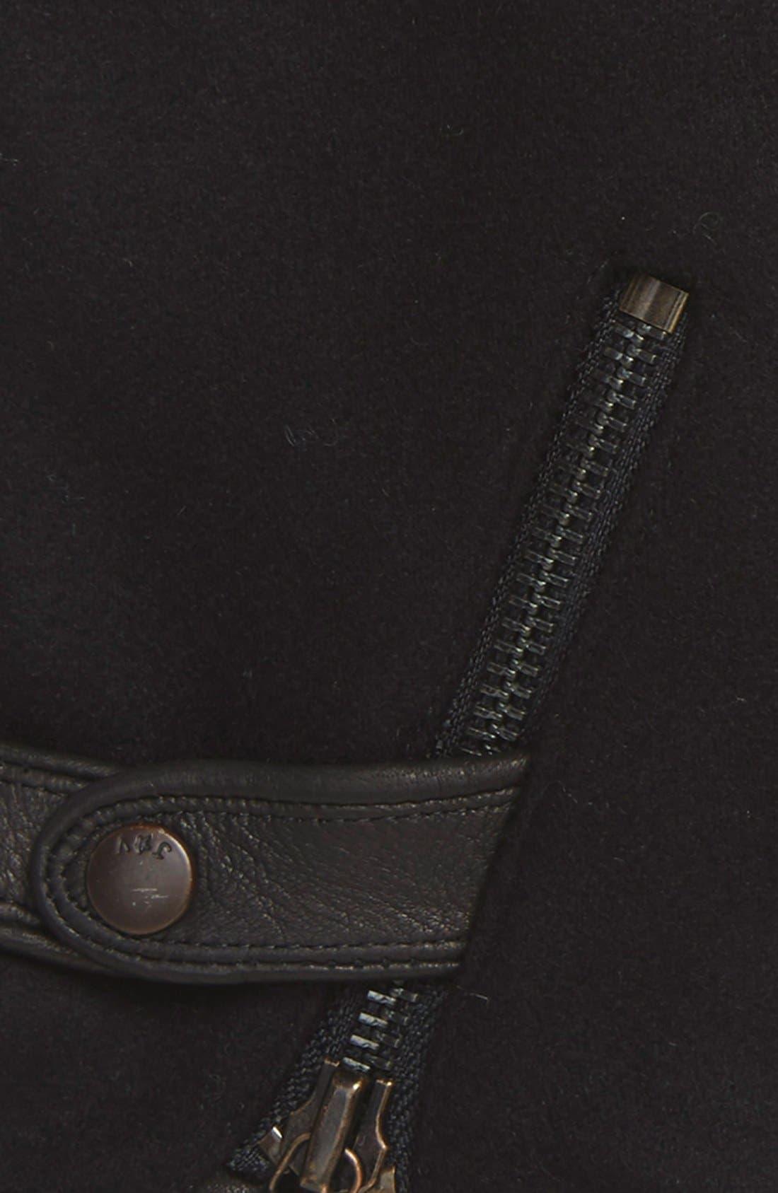 Wool Blend Zip Gloves,                             Alternate thumbnail 7, color,