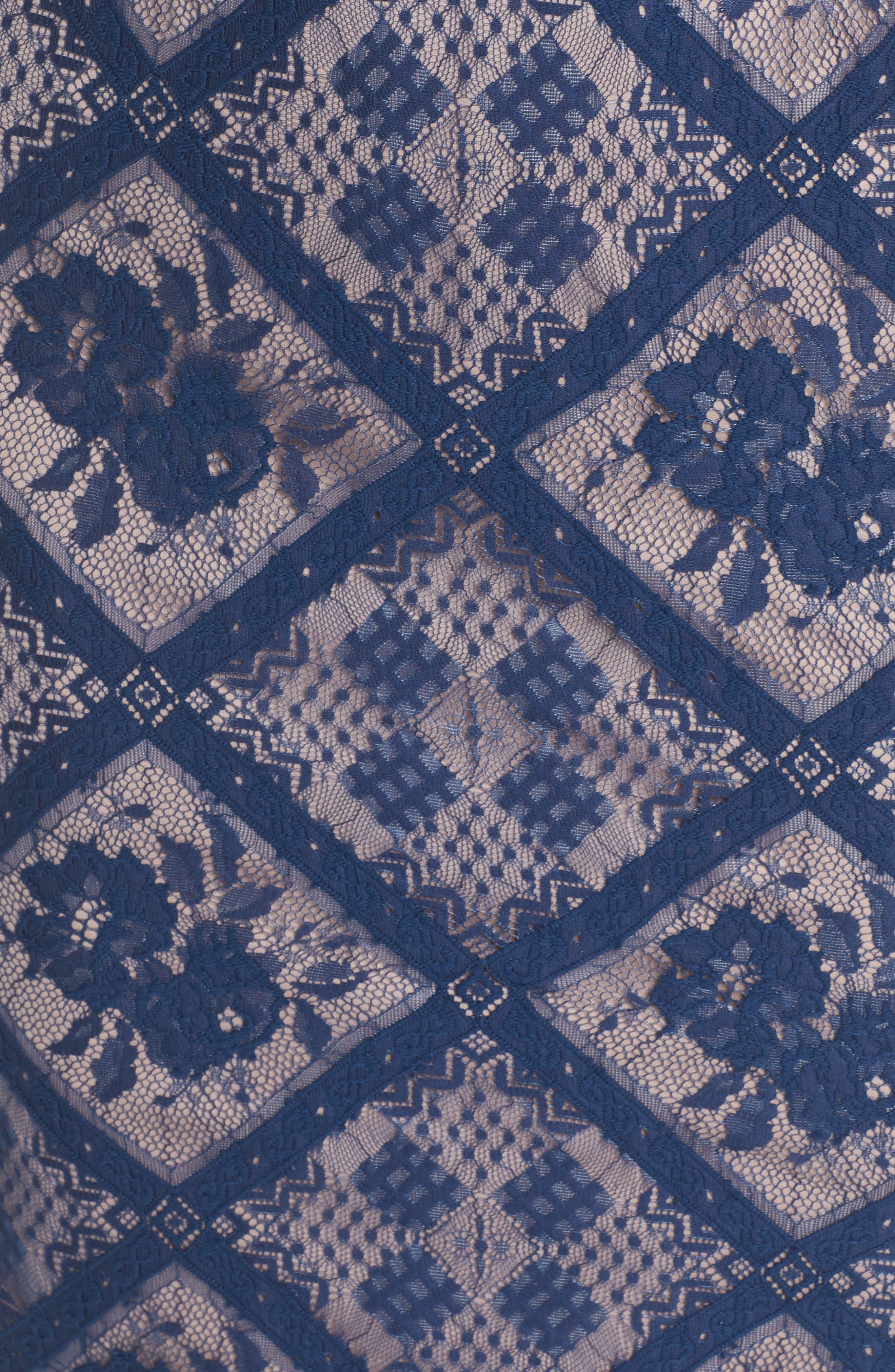 Floral Lace Sheath Dress,                             Alternate thumbnail 5, color,                             412