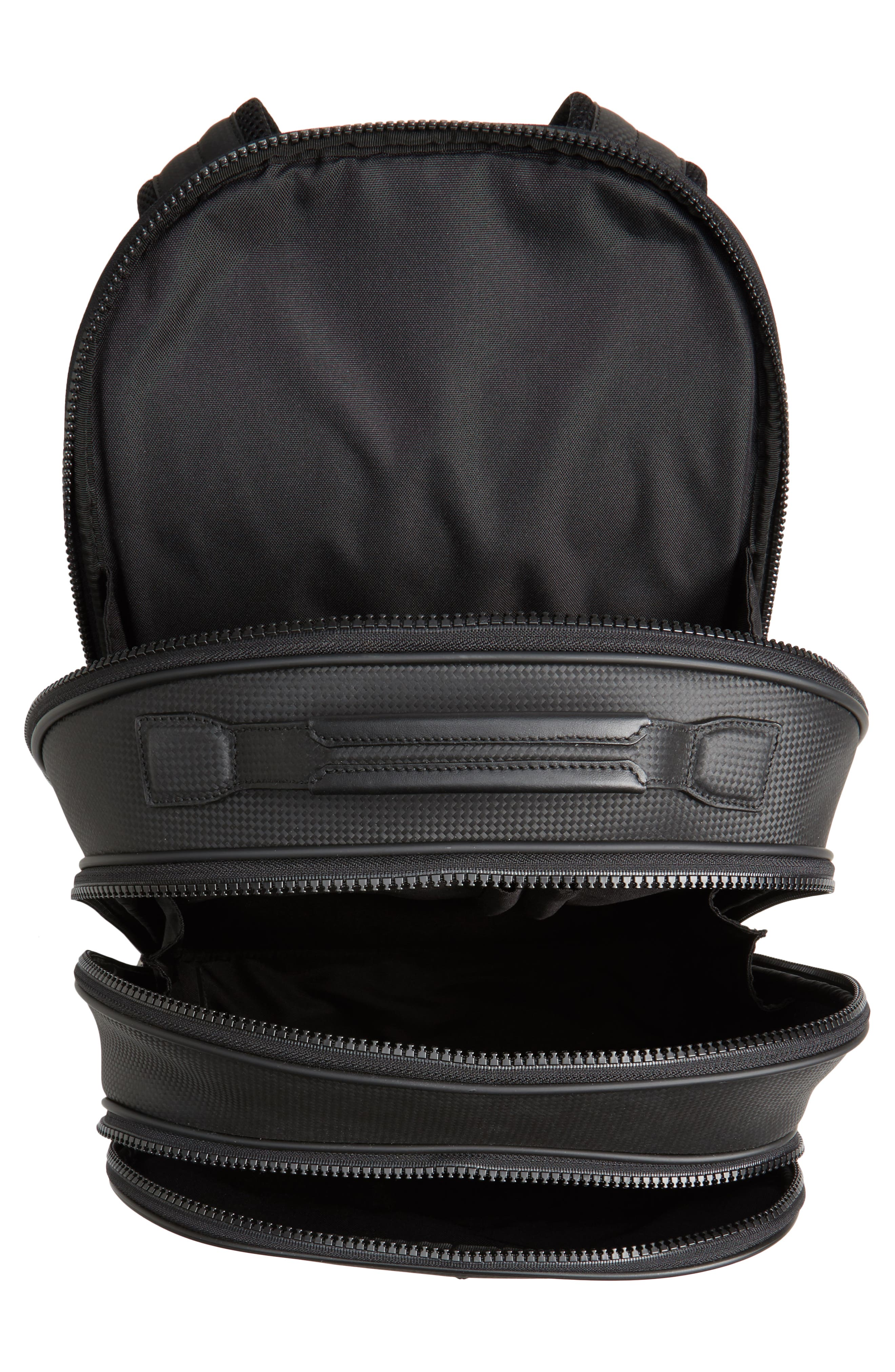 Extreme Leather Backpack,                             Alternate thumbnail 4, color,                             BLACK