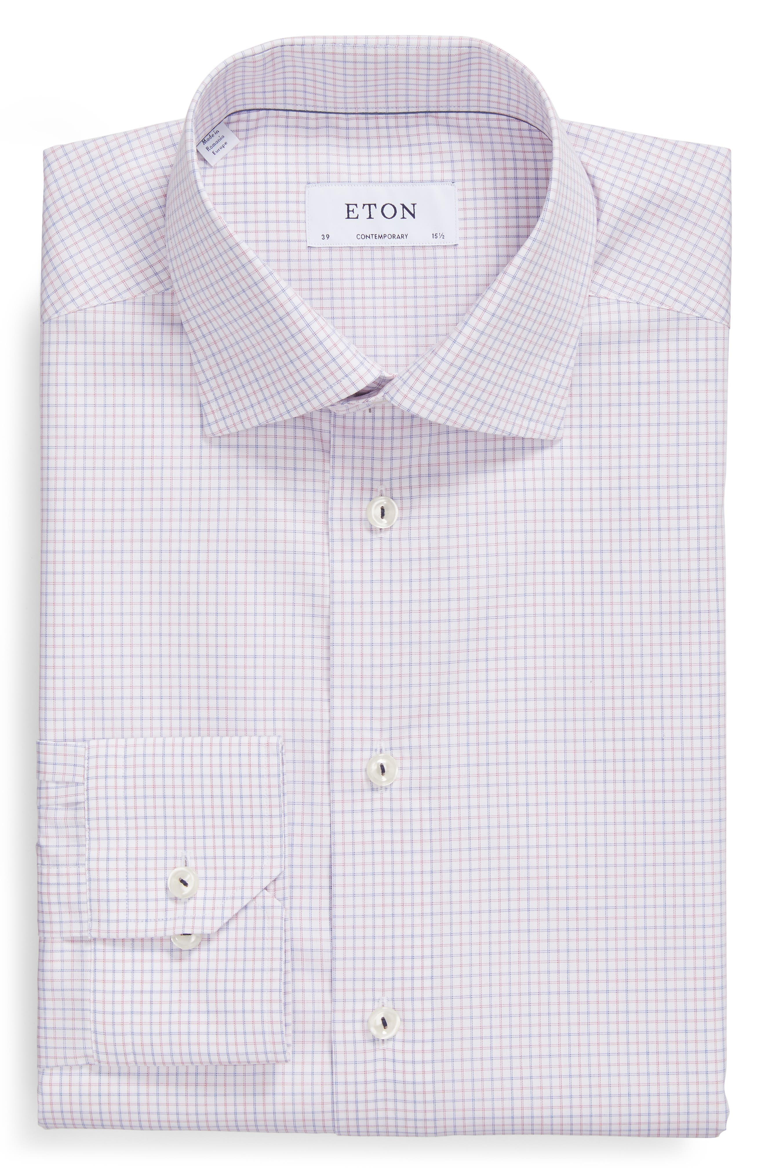 Contemporary Fit Check Dress Shirt,                             Alternate thumbnail 5, color,                             651