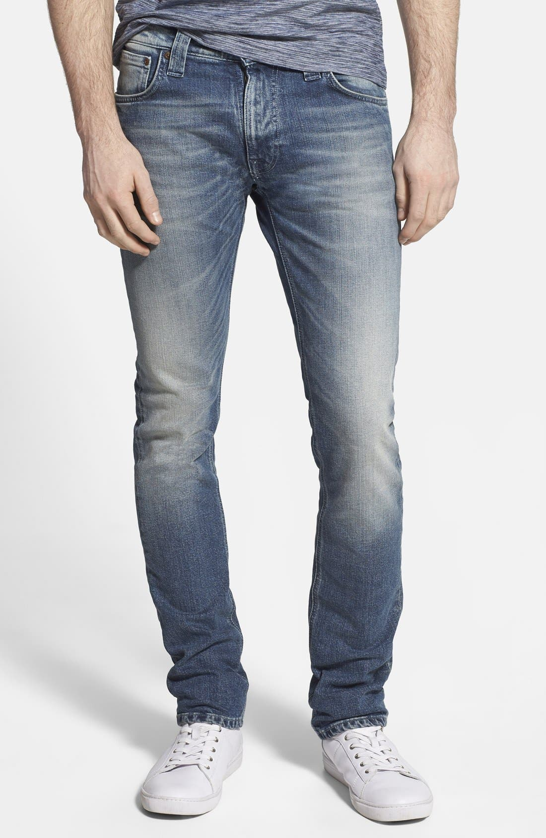 'Thin Finn' Skinny Fit Jeans, Main, color, 401