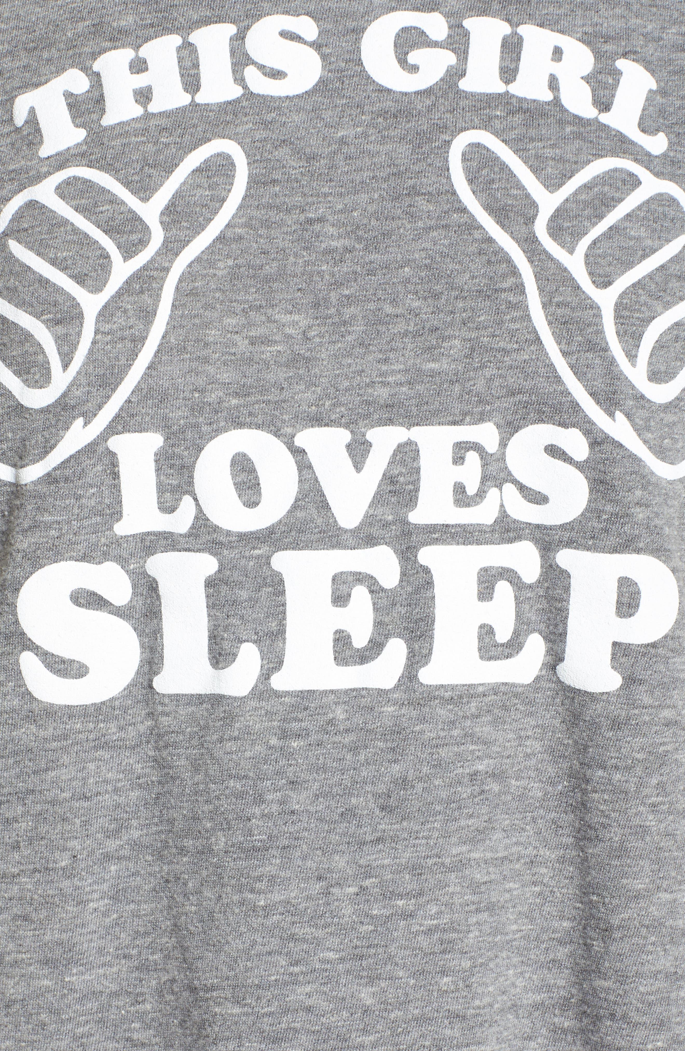 This Girl Loves Sleep Tee,                             Alternate thumbnail 5, color,                             035