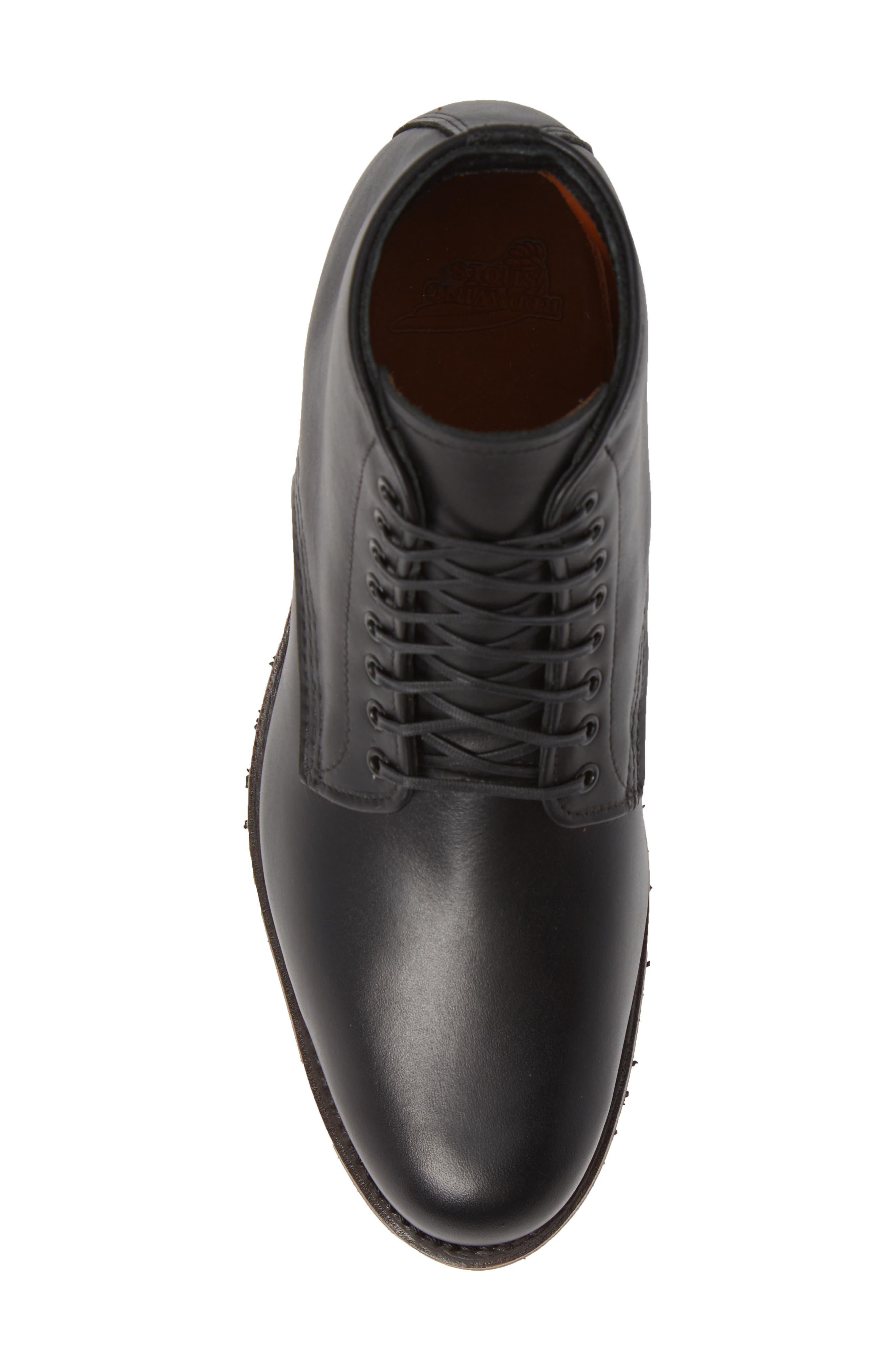 RED WING,                             Williston Plain Toe Boot,                             Alternate thumbnail 5, color,                             BLACK LEATHER