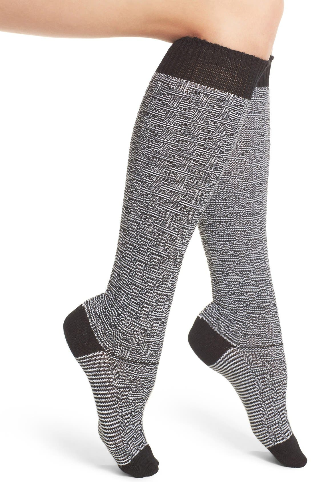 Ryn Knee High Socks,                             Main thumbnail 1, color,                             001