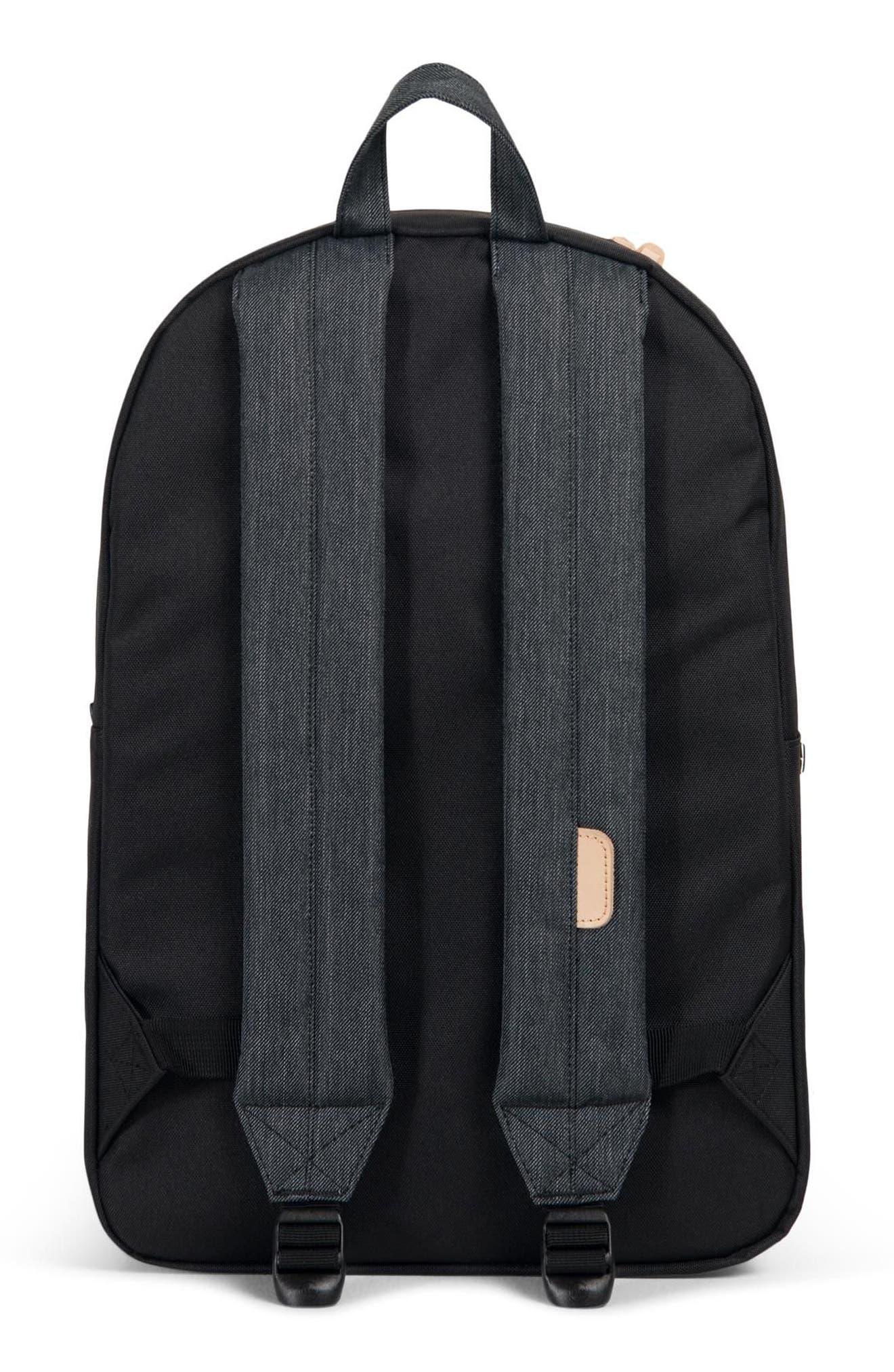 Heritage Offset Denim Backpack,                             Alternate thumbnail 2, color,                             BLACK/ BLACK DENIM