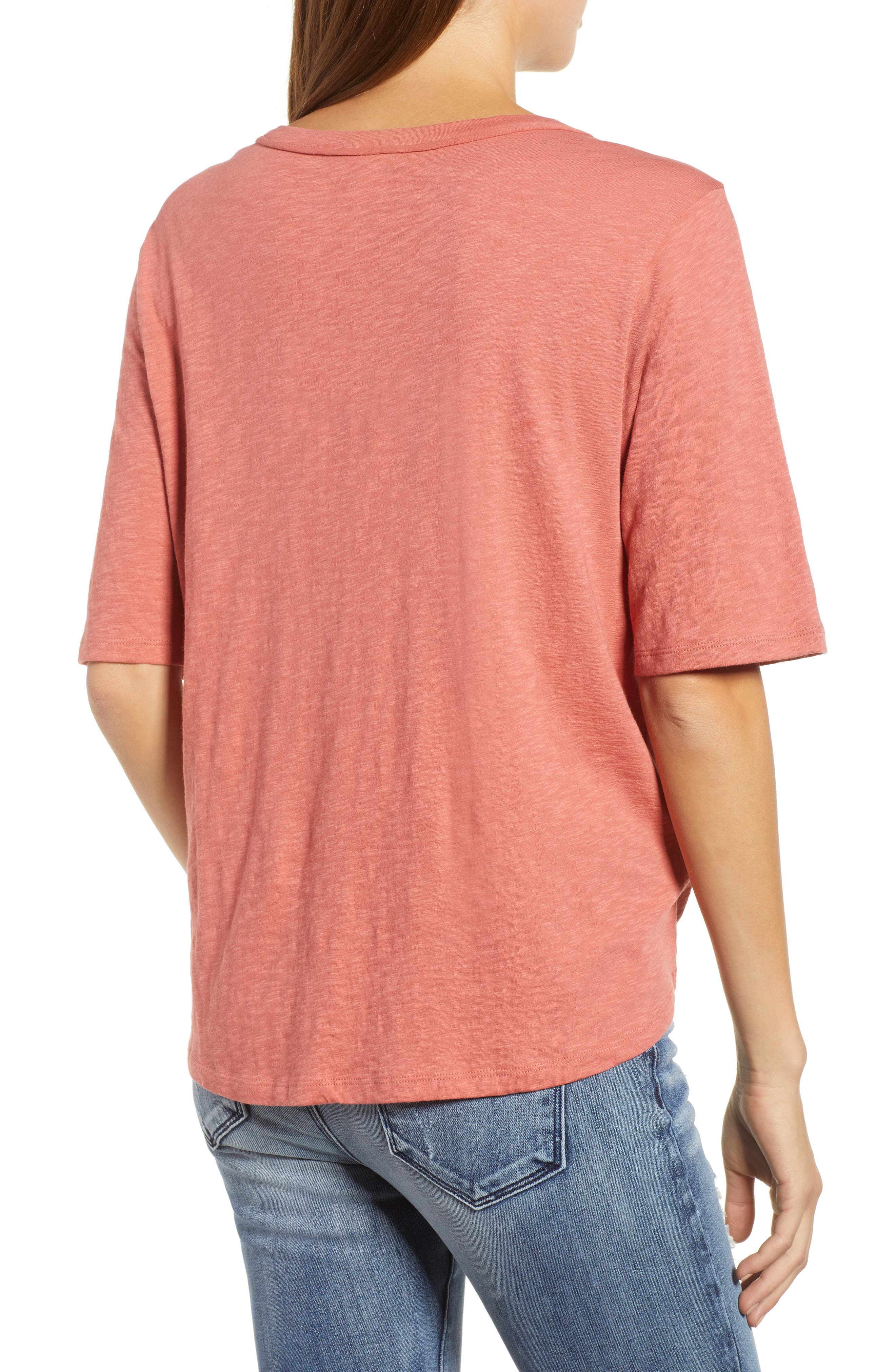 Tie Front Tee,                             Alternate thumbnail 2, color,                             951