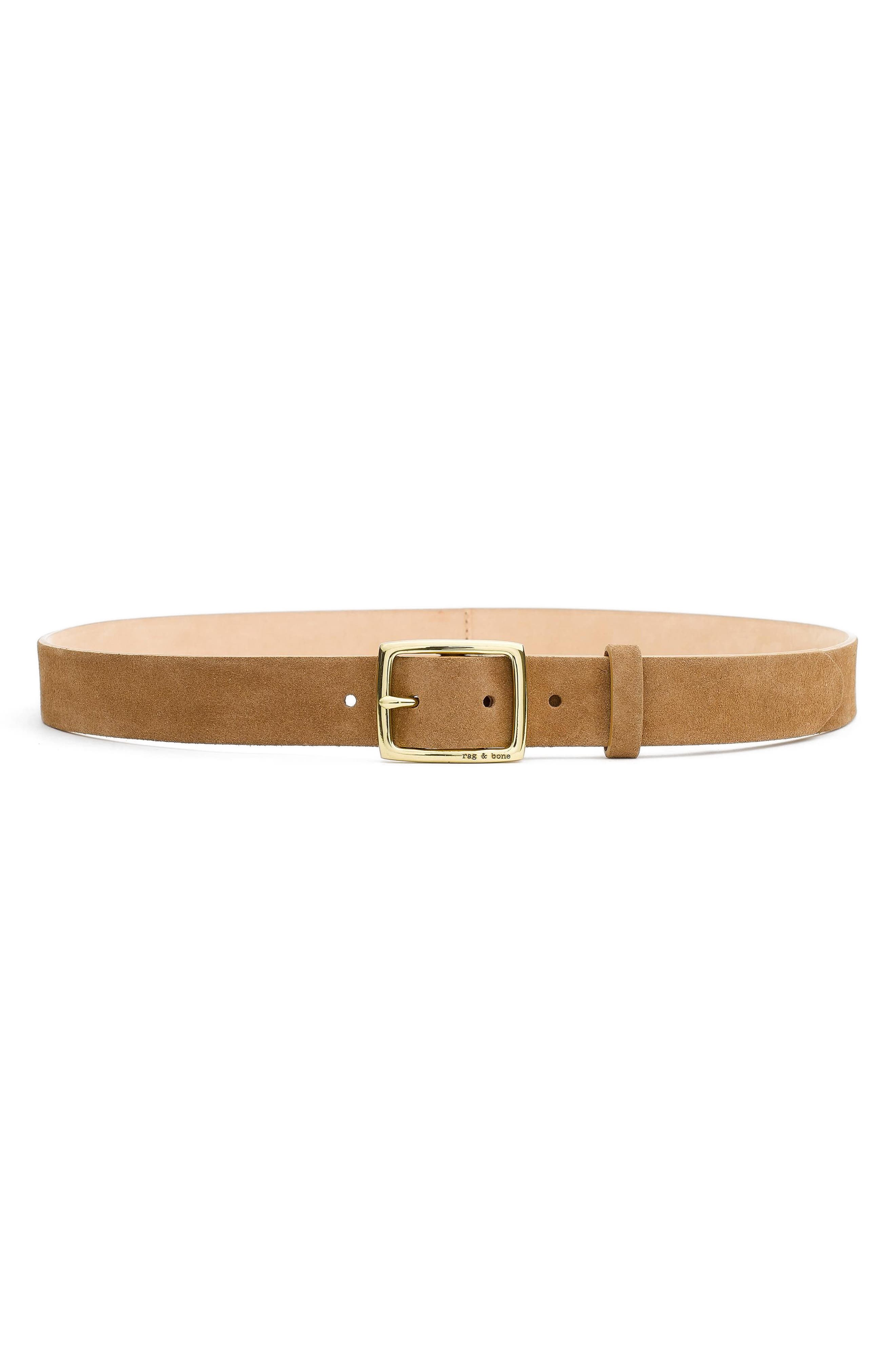 'Boyfriend' Leather Belt,                             Alternate thumbnail 2, color,                             CAMEL