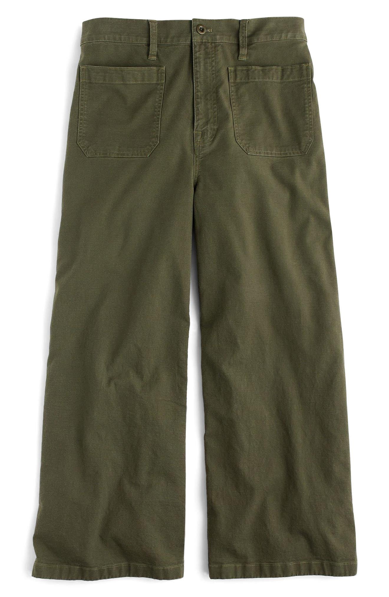 Point Sur Washed Wide Leg Crop Pants,                         Main,                         color, 300