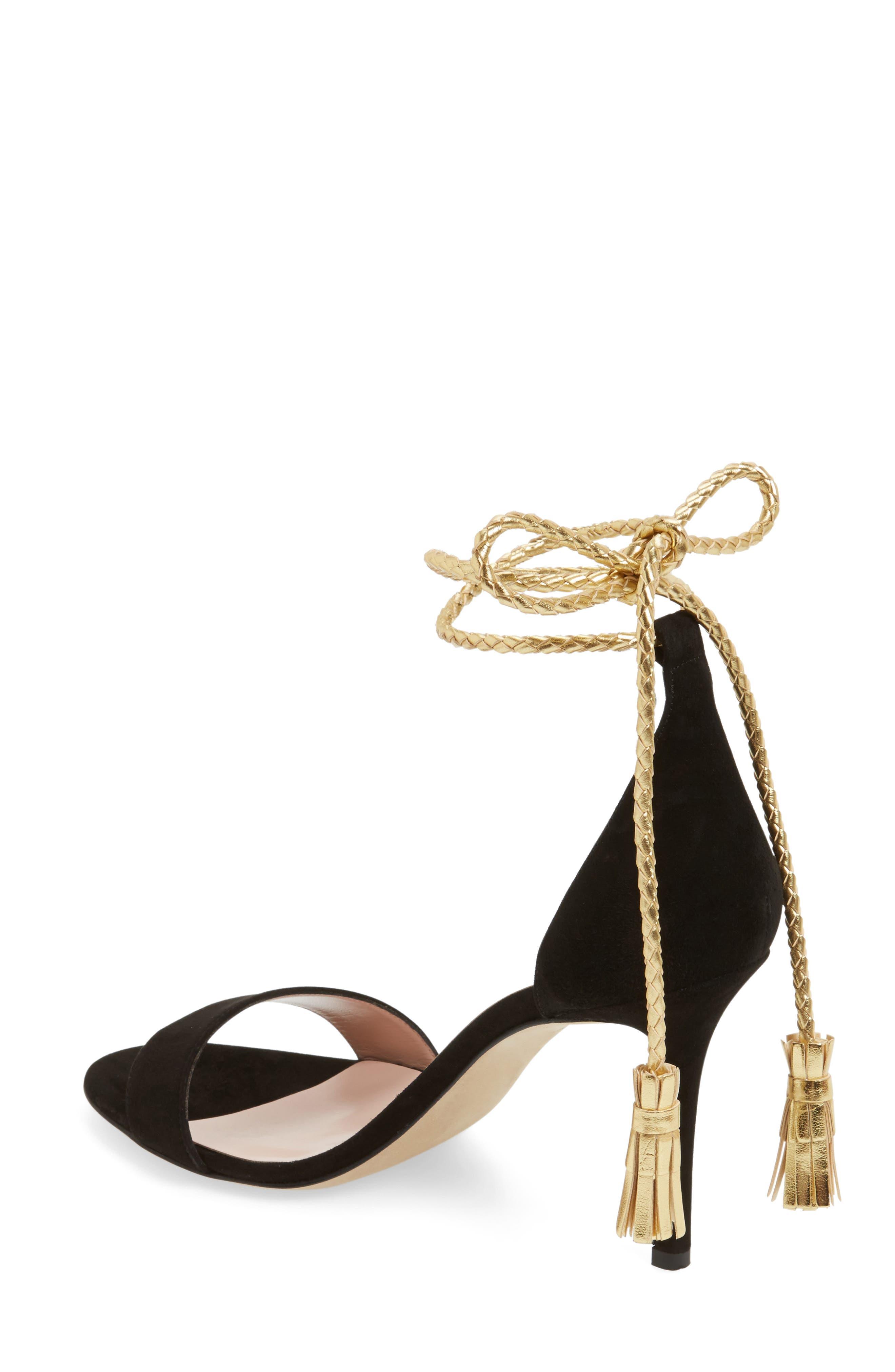 inez wraparound sandal,                             Alternate thumbnail 2, color,                             001