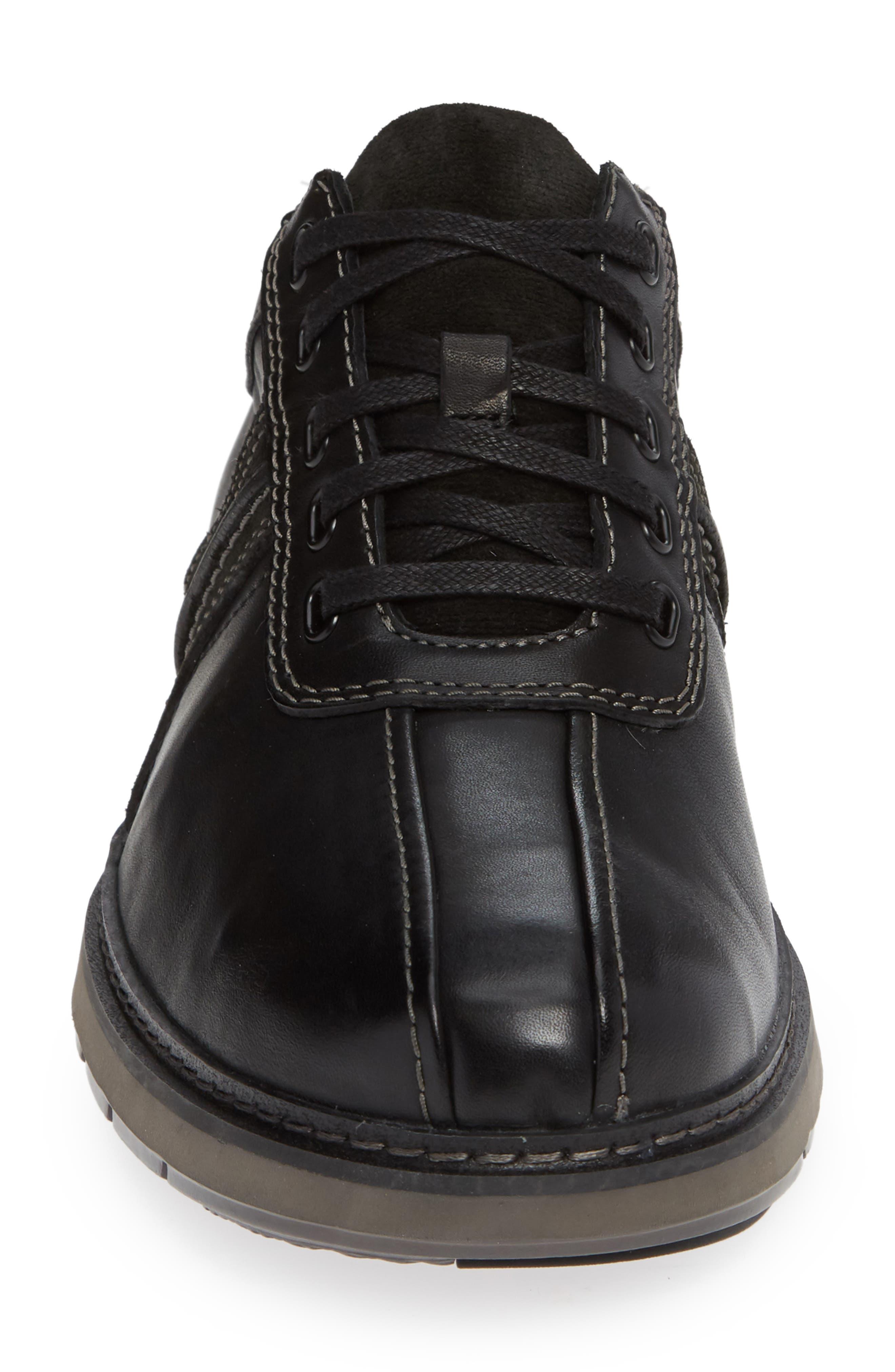 Un Ramble Go Sneaker,                             Alternate thumbnail 4, color,                             BLACK LEATHER