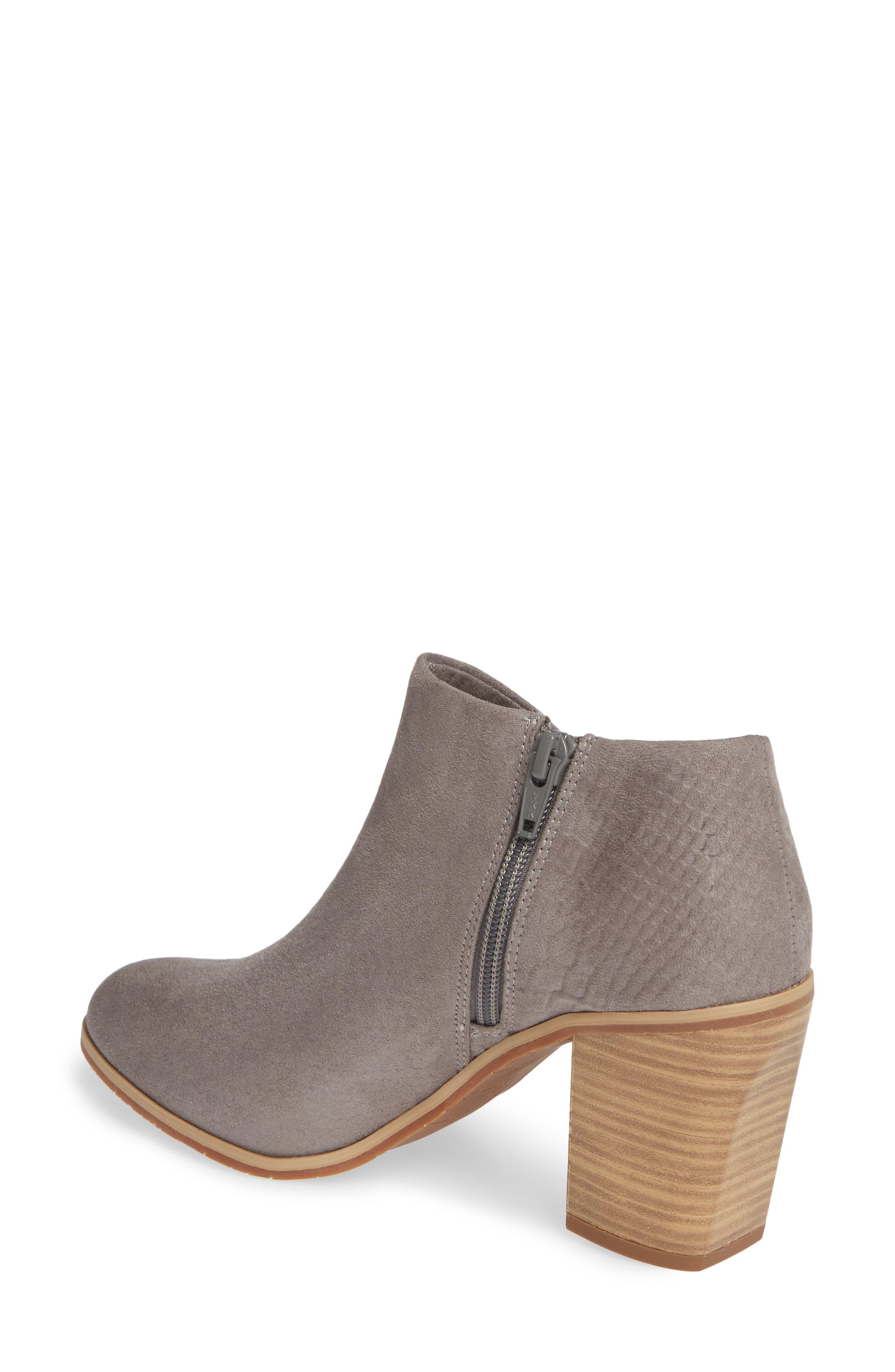 BC FOOTWEAR,                             Kettle Block Heel Bootie,                             Alternate thumbnail 2, color,                             GREY VEGAN SUEDE