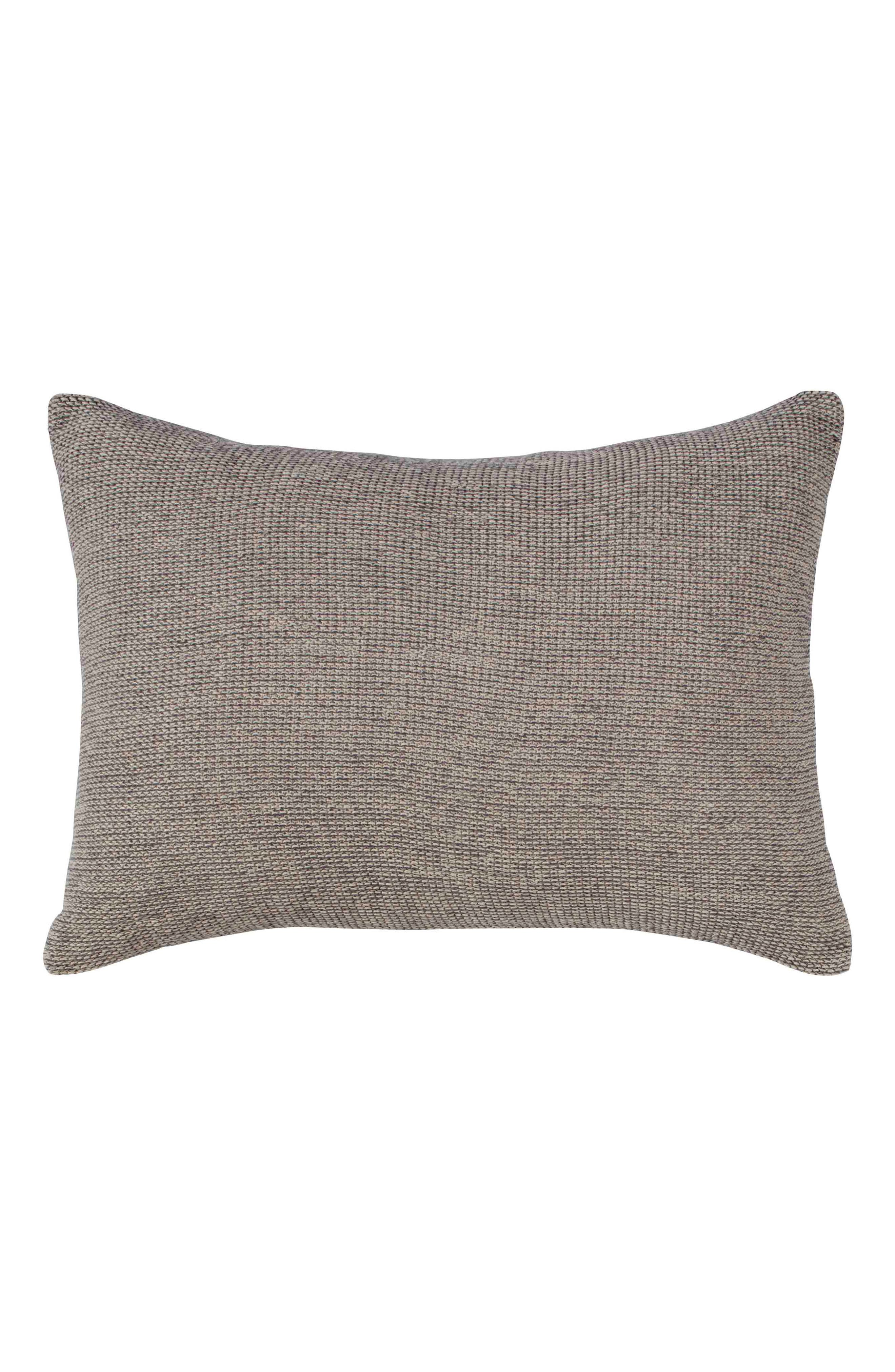 Tulare Bicolor Knit Accent Pillow,                             Main thumbnail 1, color,                             NATURAL