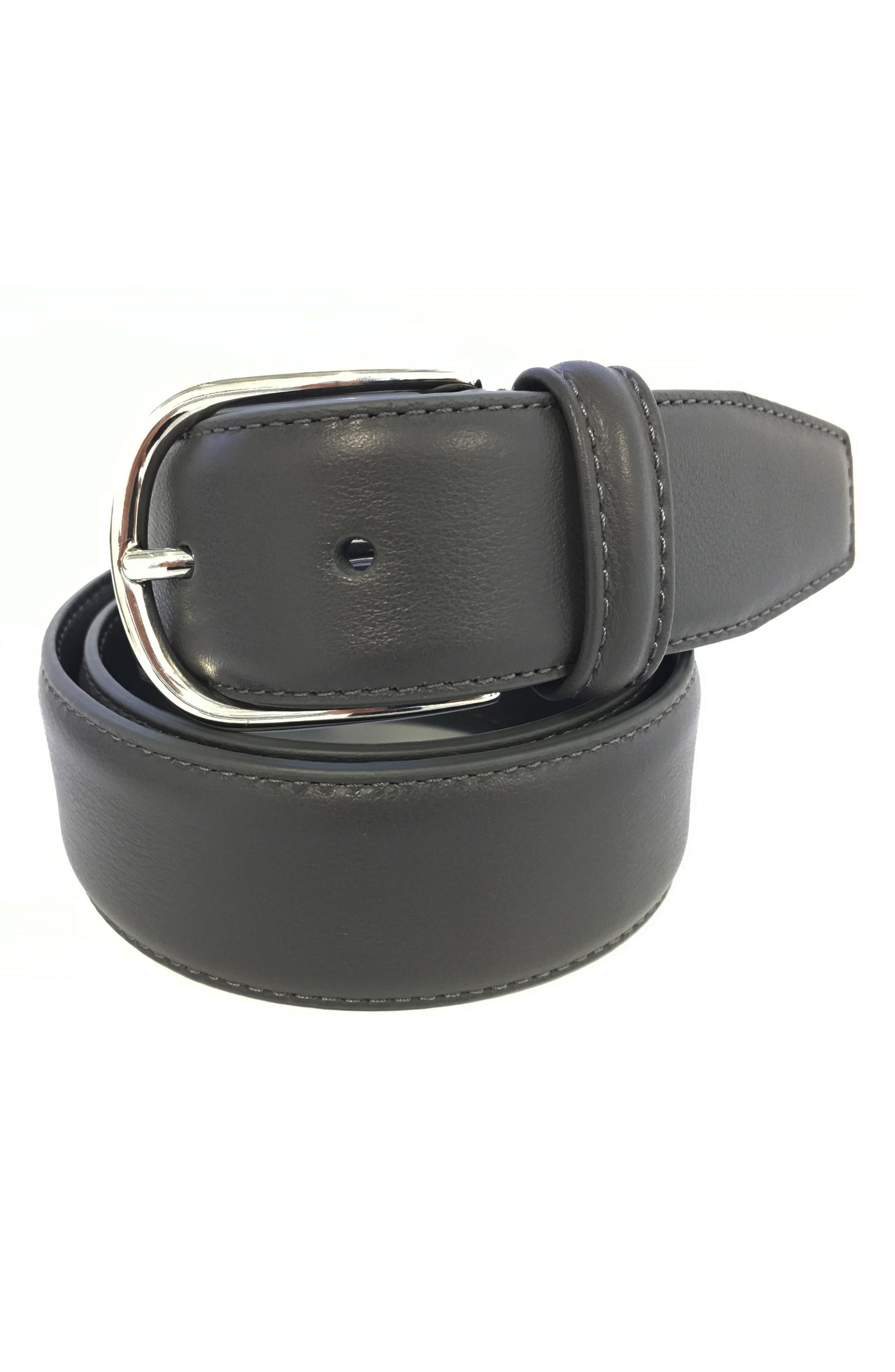 ANDERSONS Leather Belt in Grey