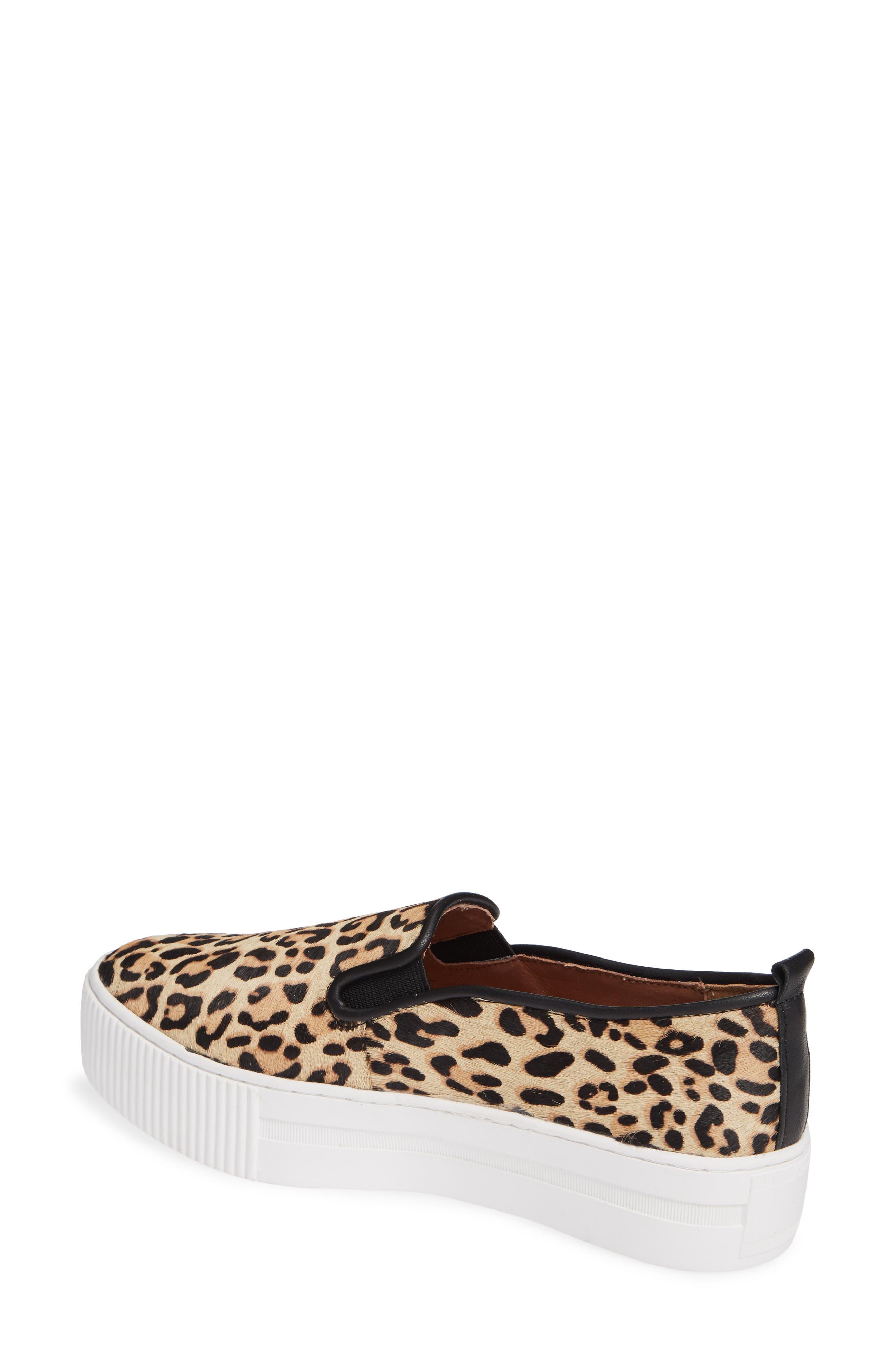 Baylee Platform Slip-On Sneaker,                             Alternate thumbnail 2, color,                             LEOPARD HAIRCALF