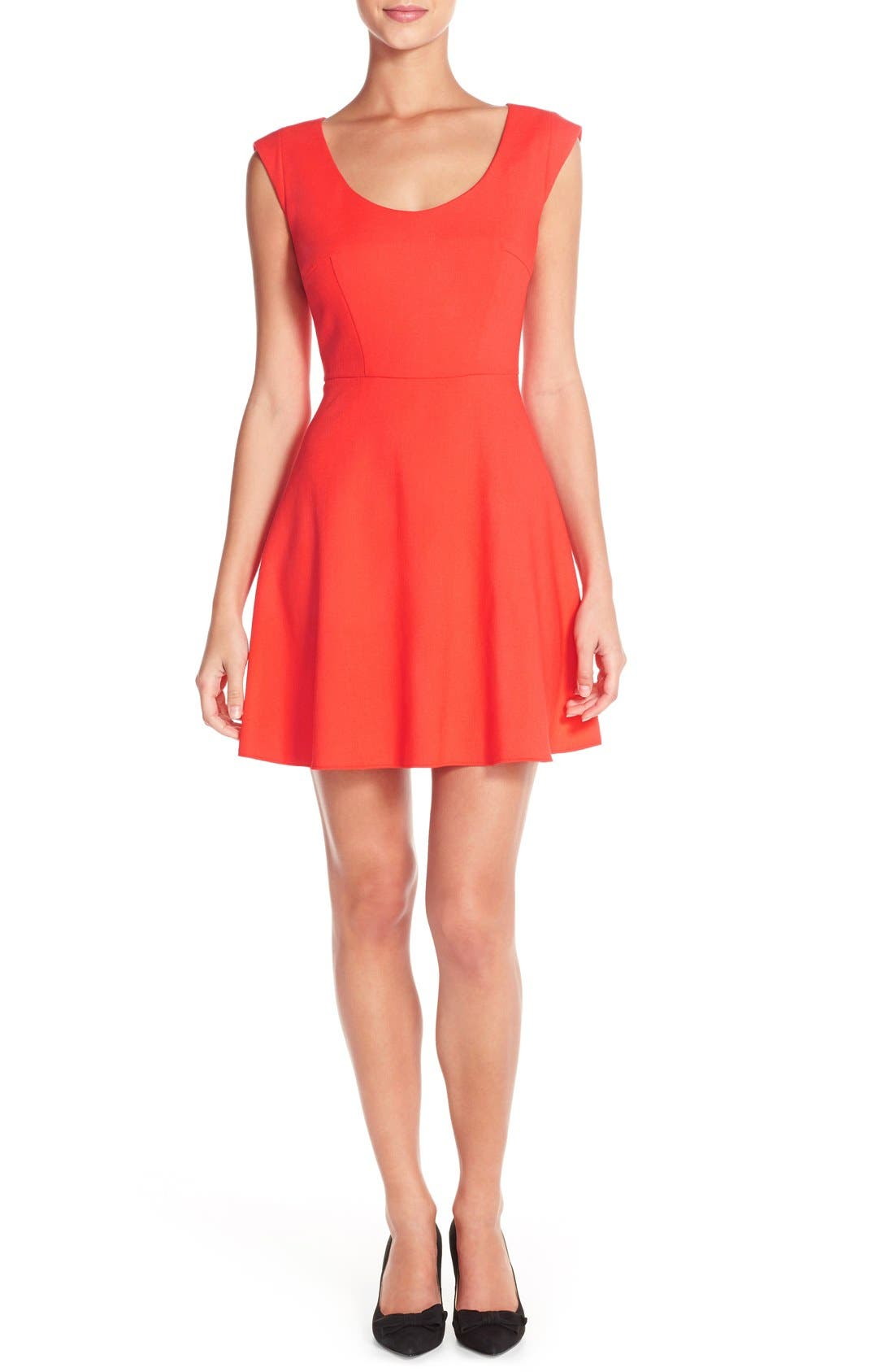Whisper Light Fit & Flare Dress,                             Main thumbnail 3, color,