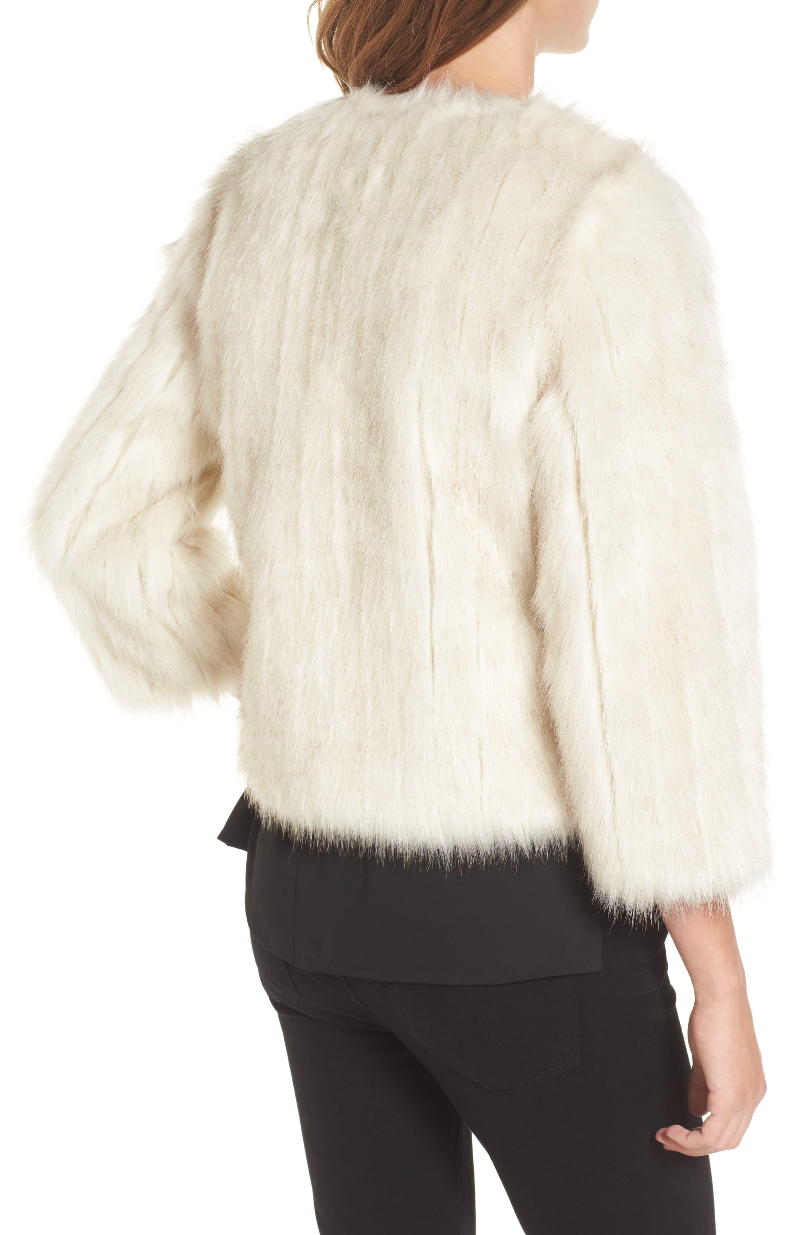 Winter Faux Fur Jacket,                             Alternate thumbnail 2, color,