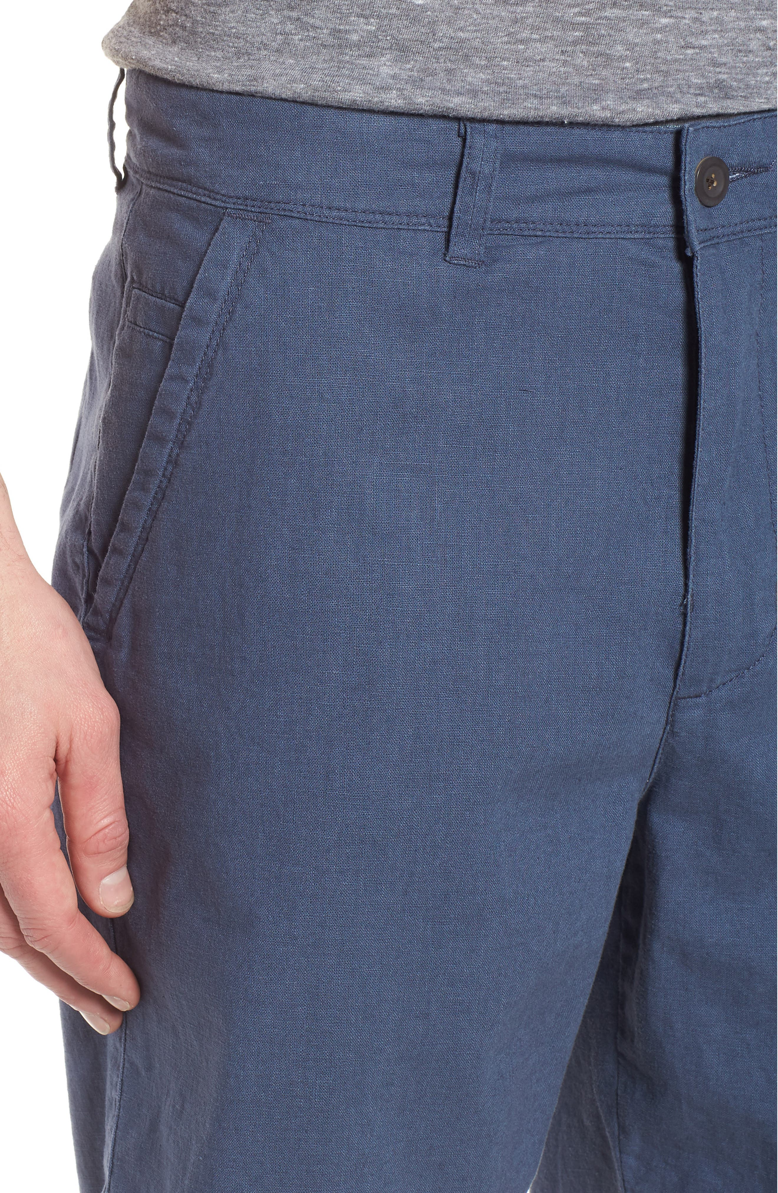 Islander Linen & Cotton Shorts,                             Alternate thumbnail 4, color,                             410