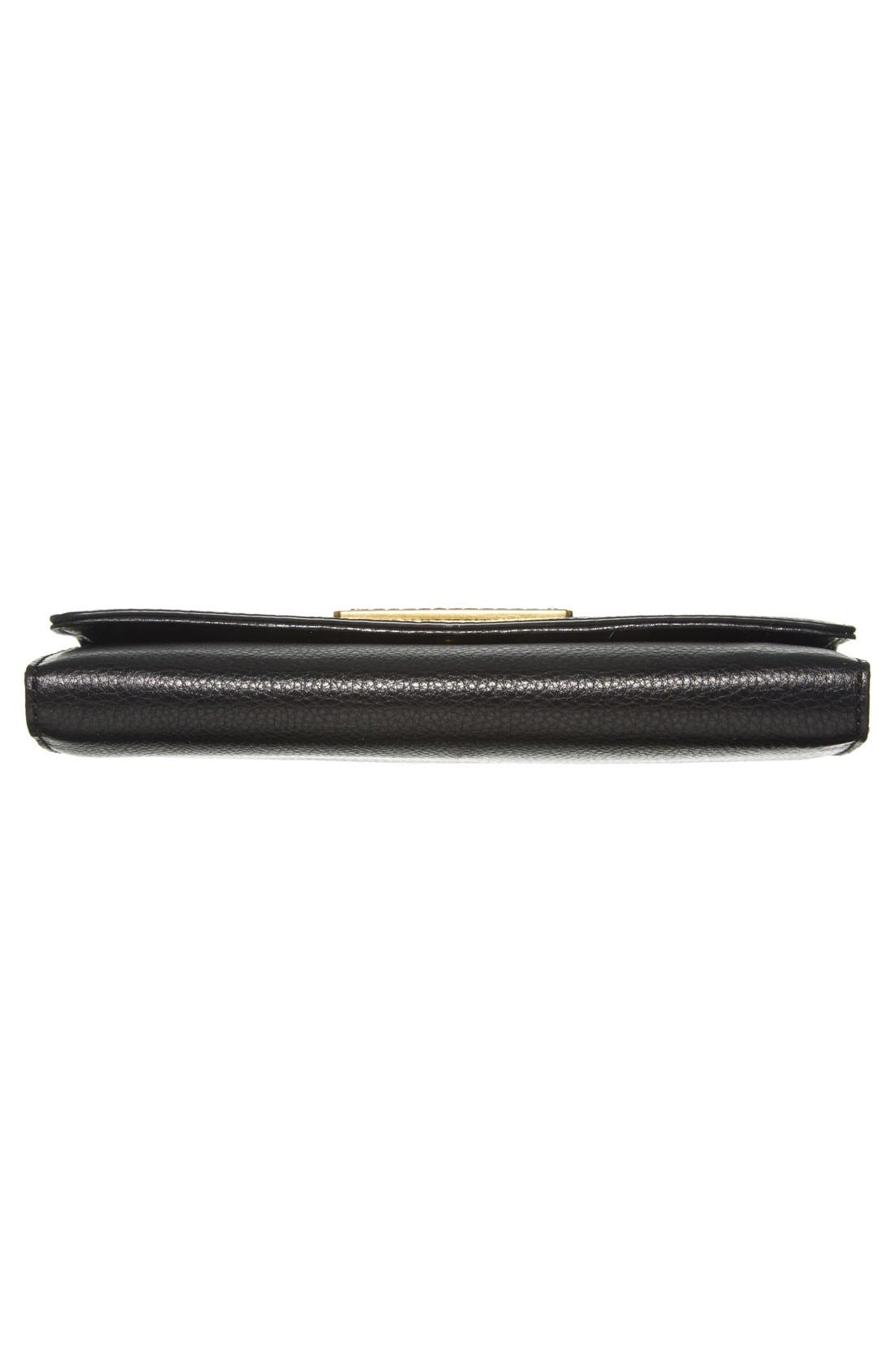 MARC JACOBS,                             MARC BY MARC JACOBS 'Too Hot to Handle' Long Trifold Wallet,                             Alternate thumbnail 4, color,                             001