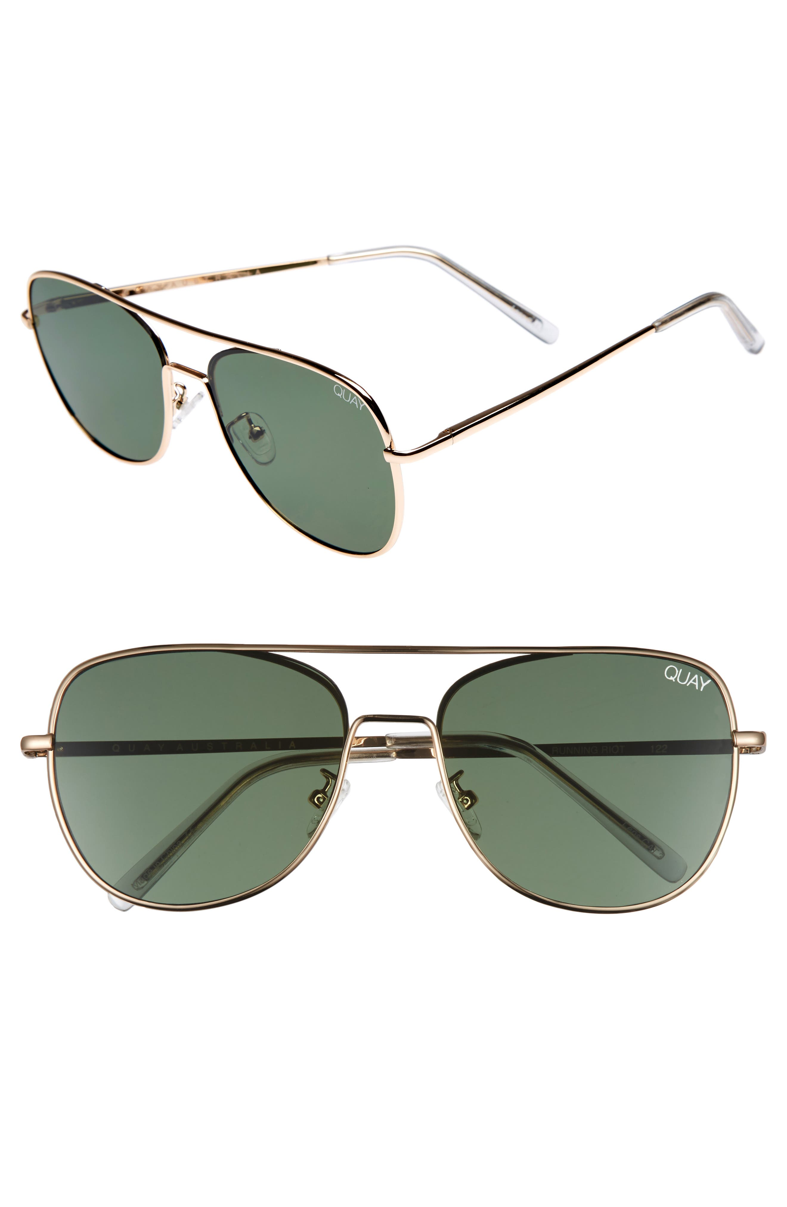 'Running Riot' 58mm Aviator Sunglasses,                             Main thumbnail 1, color,                             711