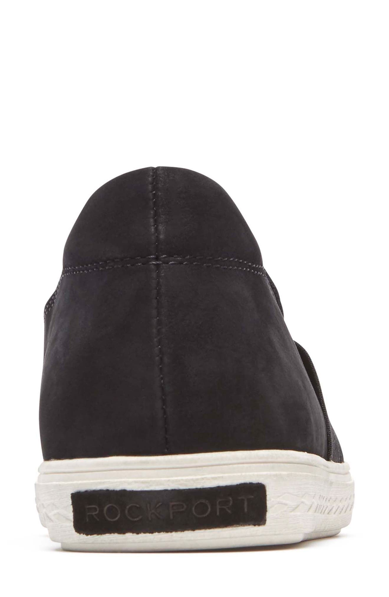 Cobb Hill Flower Embroidered Slip-On Sneaker,                             Alternate thumbnail 7, color,                             BLACK NUBUCK