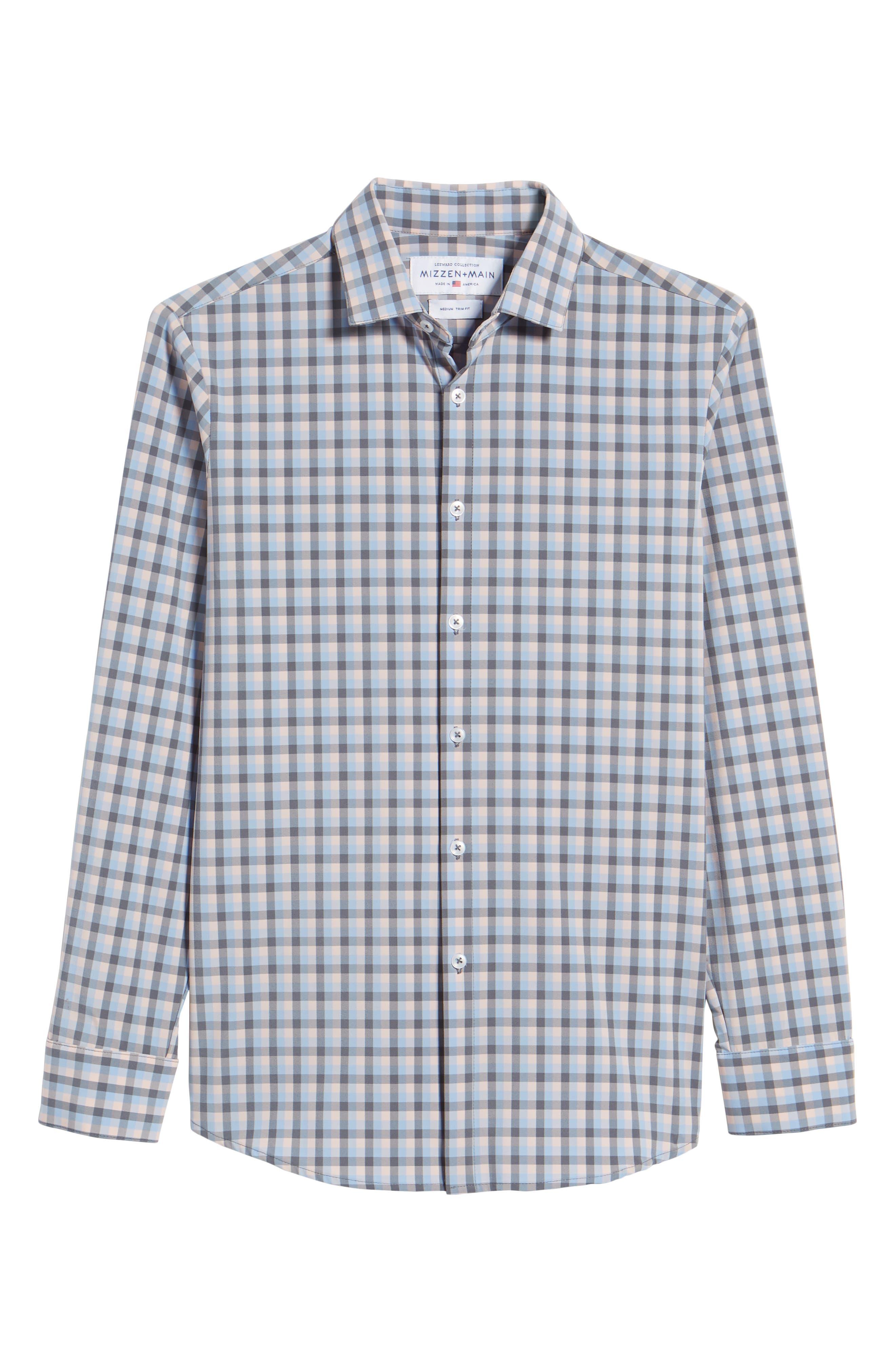 Briscoe Slim Fit Check Performance Sport Shirt,                             Alternate thumbnail 6, color,                             PINK