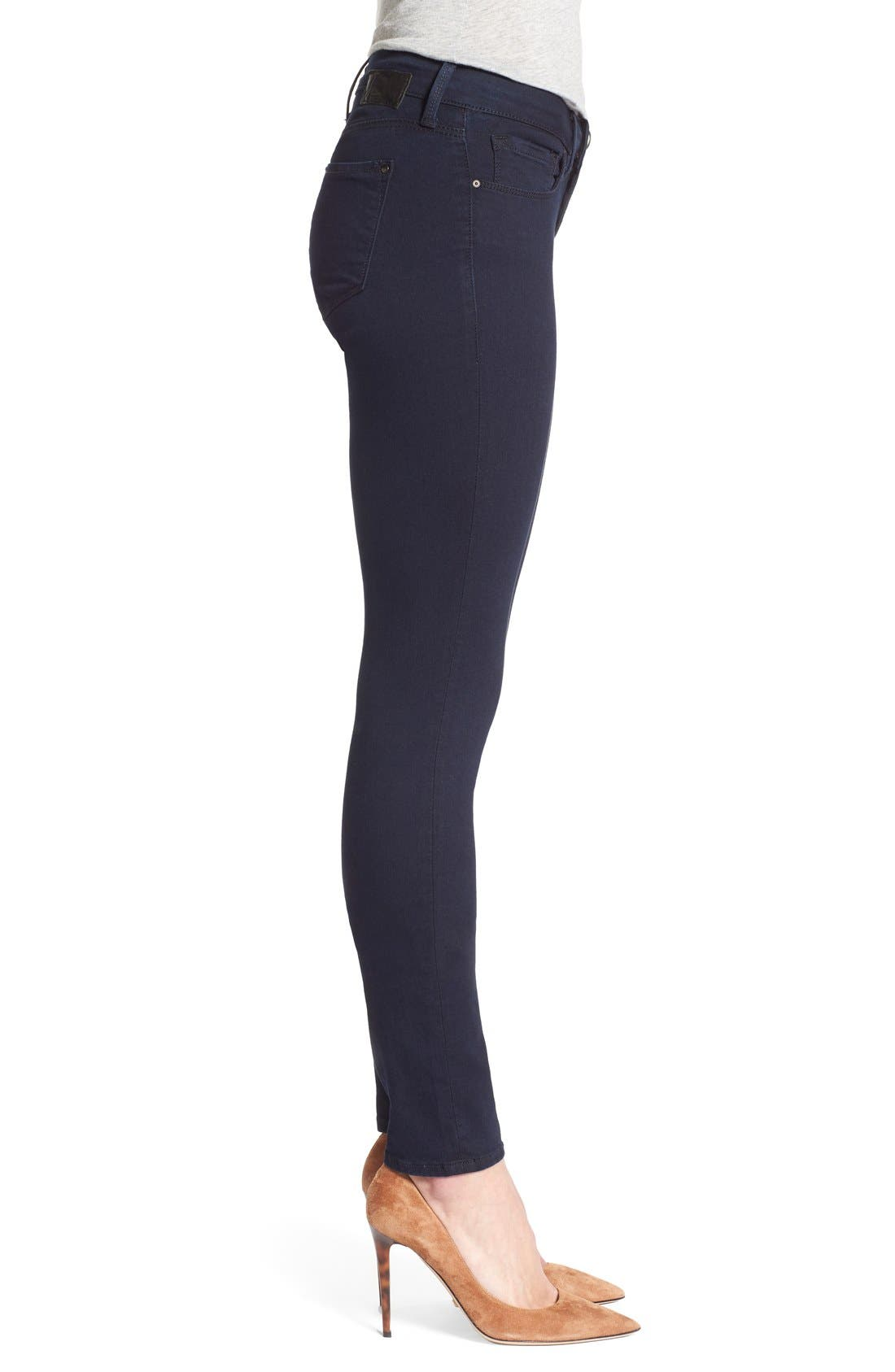 'Serena' Stretch Skinny Jeans,                             Alternate thumbnail 4, color,                             401