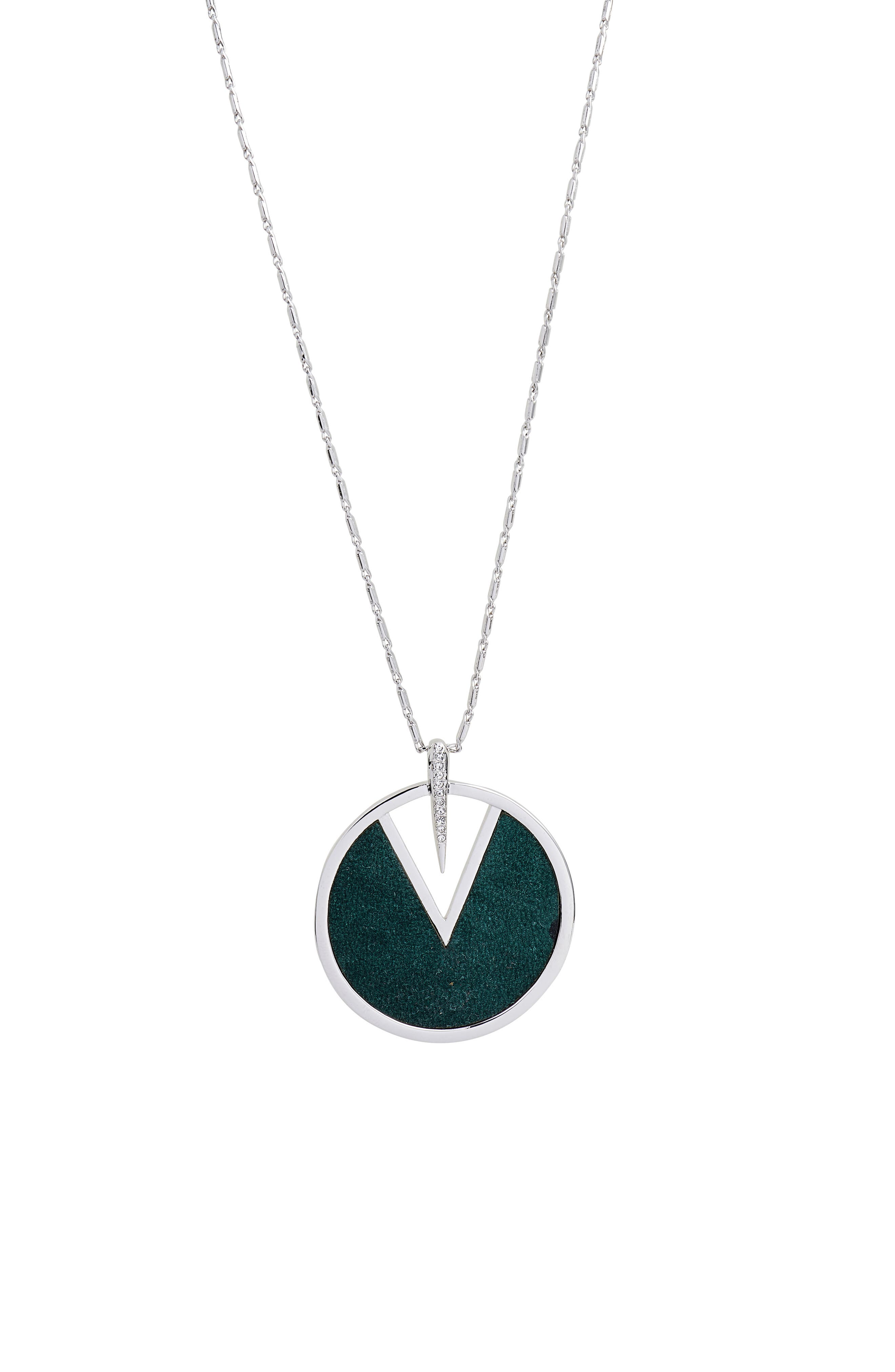 Inlaid Leather Pendant Necklace,                             Alternate thumbnail 2, color,                             040