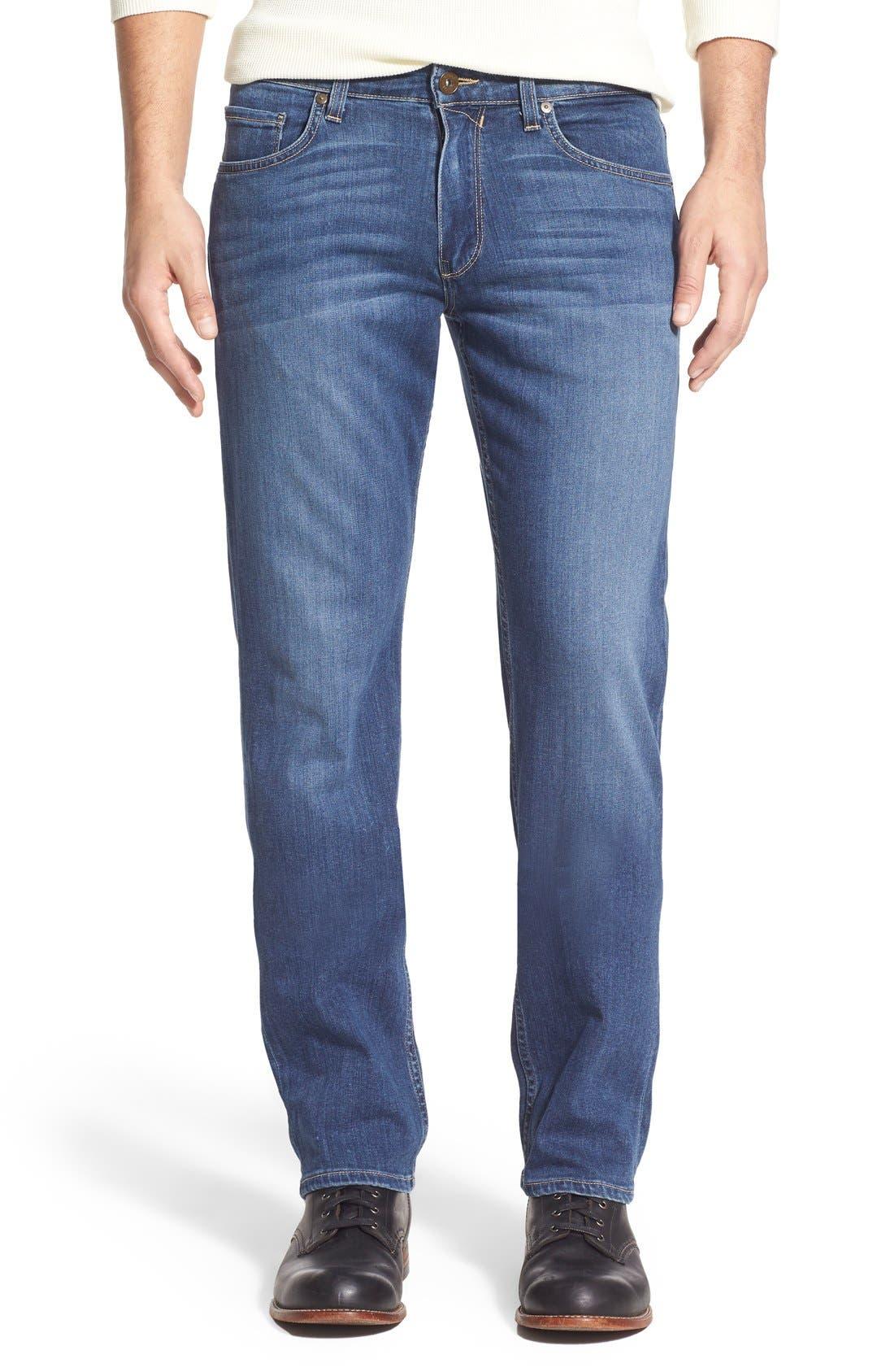 PAIGE,                             Transcend - Normandie Straight Leg Jeans,                             Main thumbnail 1, color,                             BIRCH