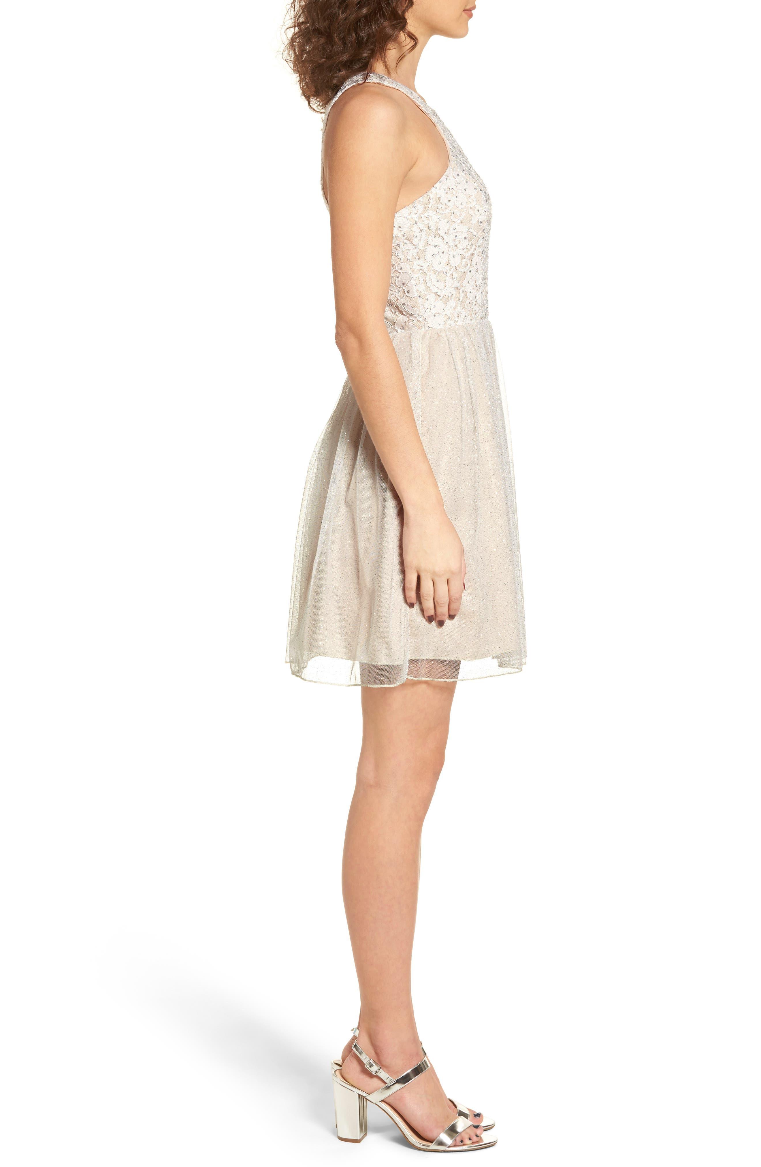 Glitter Tulle Dress,                             Alternate thumbnail 3, color,                             681