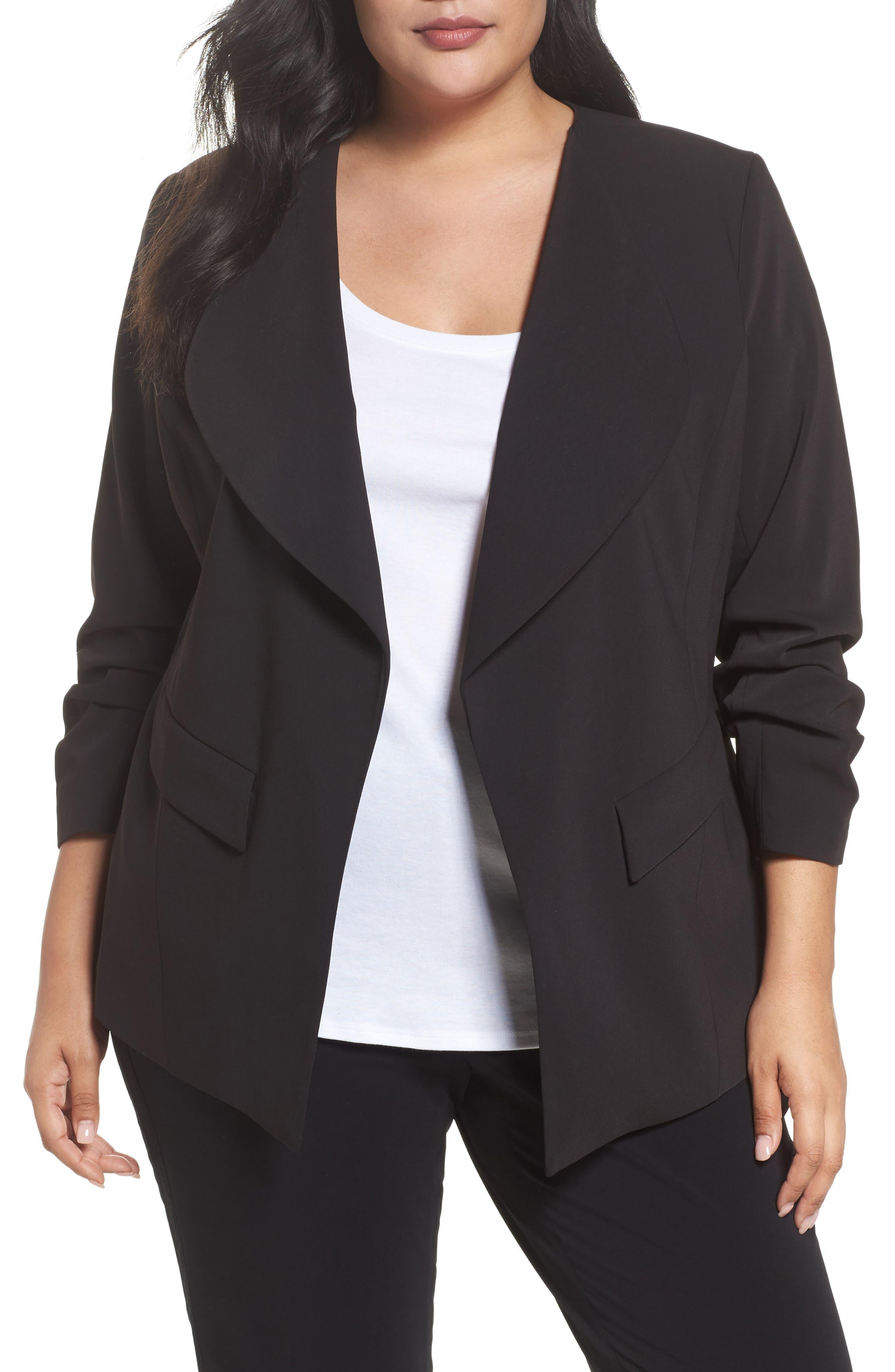 Drape Neck Jacket,                         Main,                         color, 001